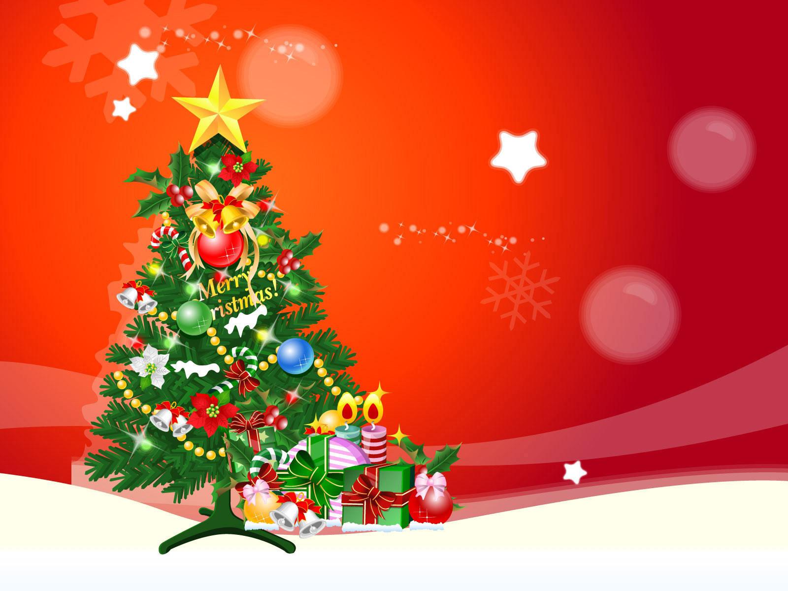 14079 скачать обои Праздники, Новый Год (New Year), Елки, Рождество (Christmas, Xmas), Рисунки - заставки и картинки бесплатно
