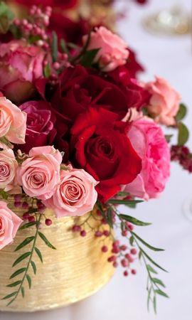 38333 descargar fondo de pantalla Plantas, Flores, Roses, Bouquets: protectores de pantalla e imágenes gratis