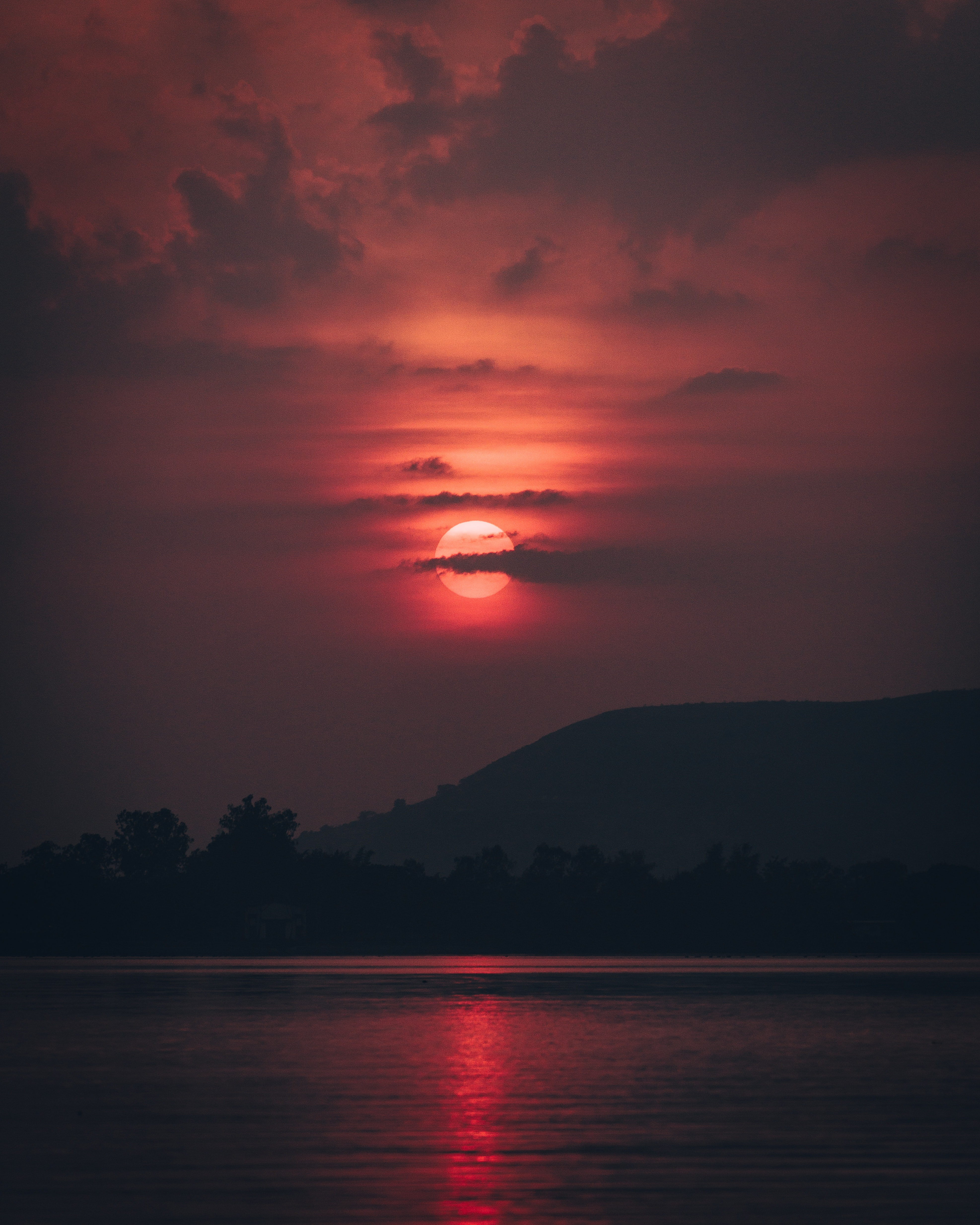 130620 Screensavers and Wallpapers Dark for phone. Download Dark, Sunset, Clouds, Dusk, Twilight, Sun, Landscape pictures for free