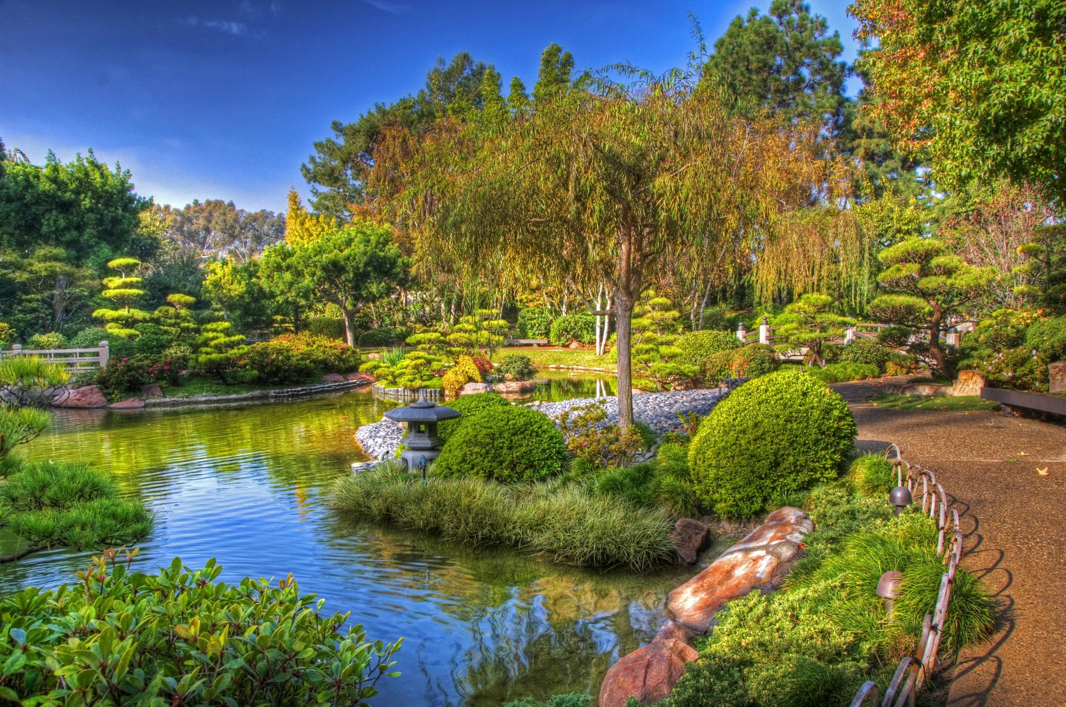 51316 скачать обои Китай, Природа, Деревья, Зеленый, Сад, Ярко, Дорожка, Оттенки - заставки и картинки бесплатно