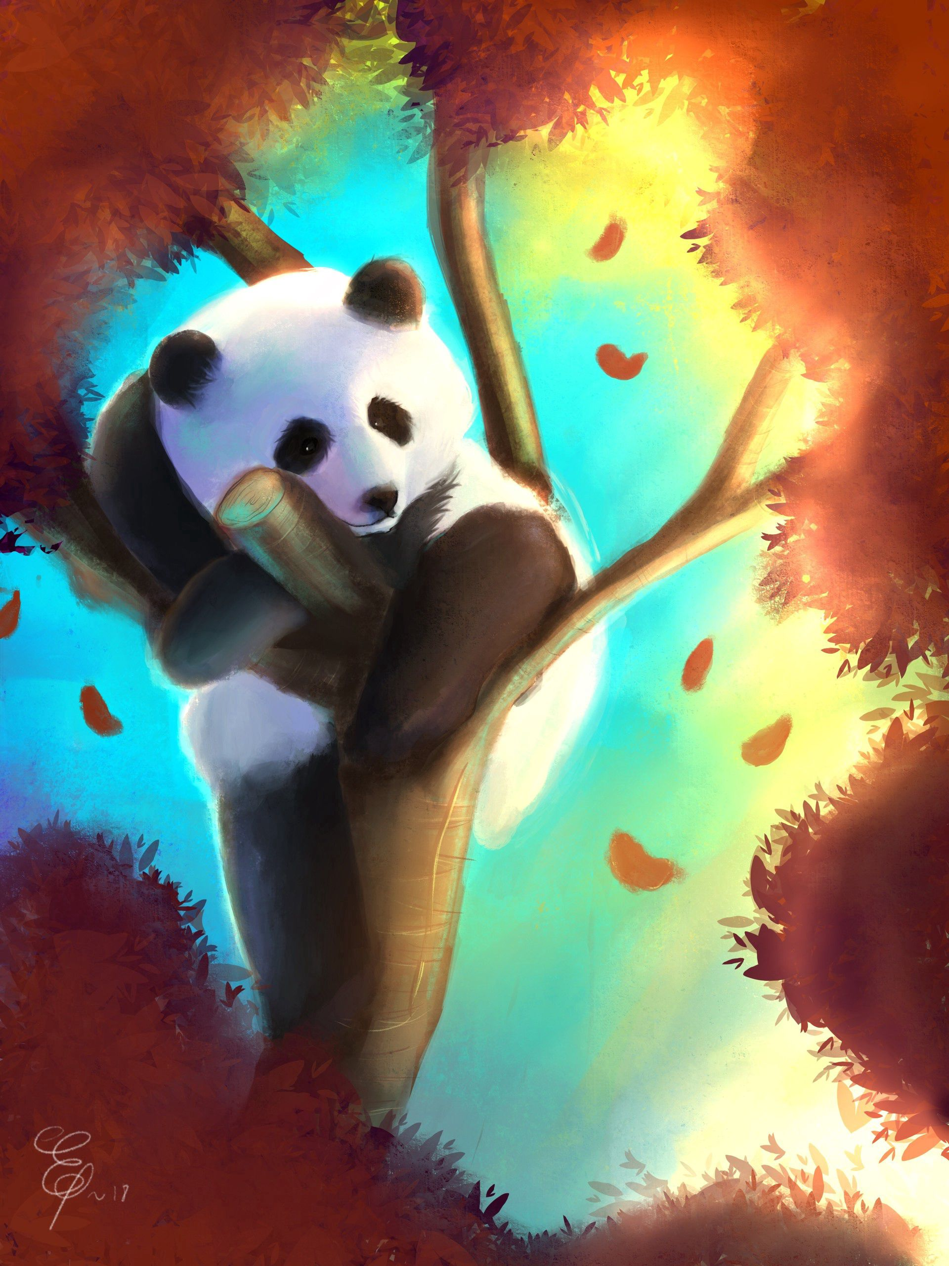 87830 Screensavers and Wallpapers Nice for phone. Download Art, Wood, Tree, Nice, Sweetheart, Colorful, Colourful, Panda pictures for free