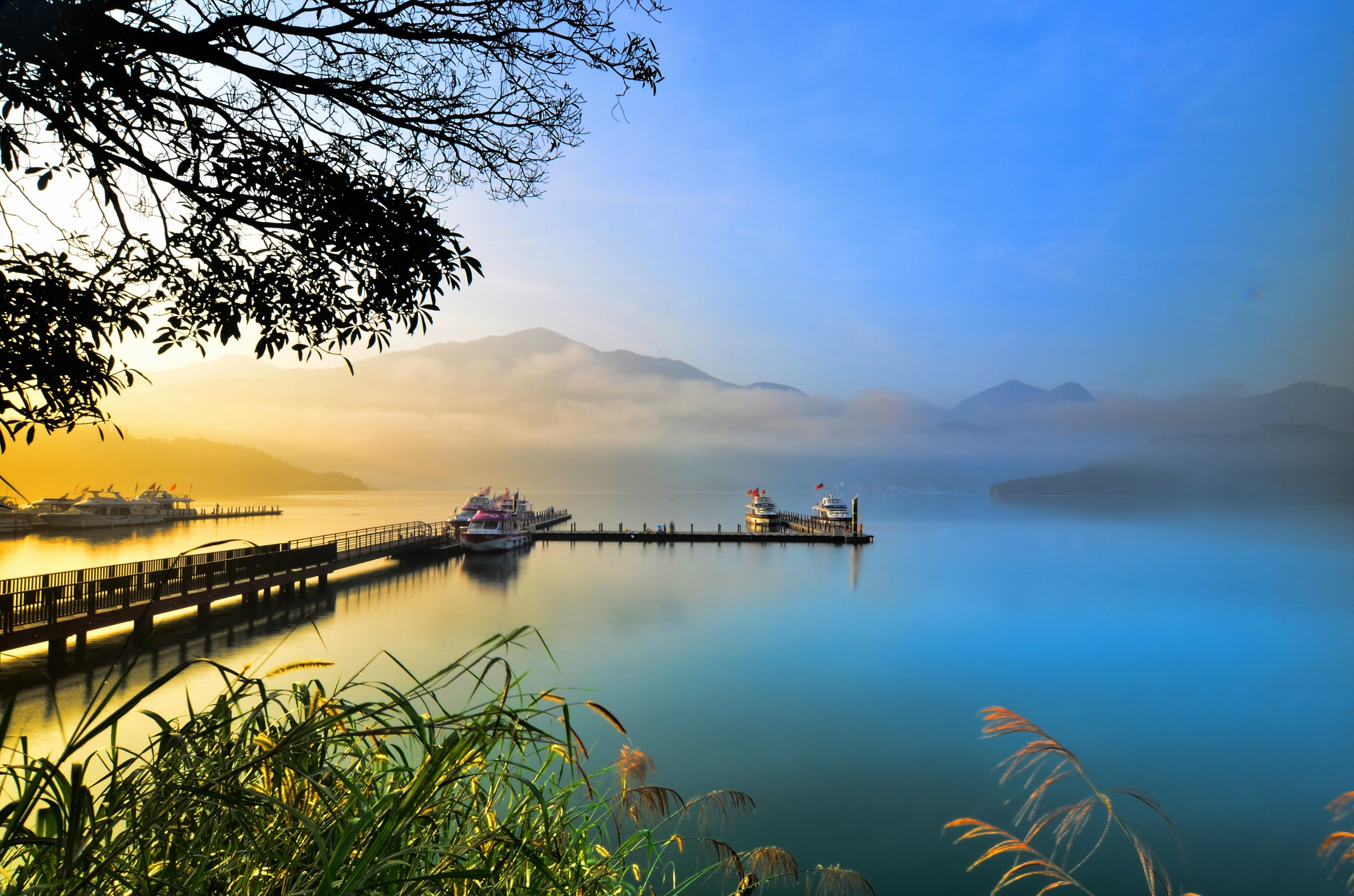 96792 download wallpaper Lake, Nature, Sunset, Evening screensavers and pictures for free