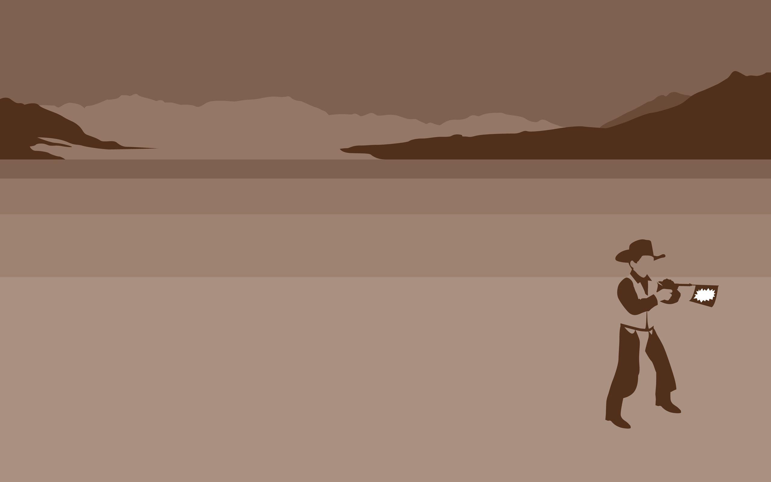 126872 скачать обои Вектор, Ковбой, Шляпа, Оружие, Выстрел - заставки и картинки бесплатно
