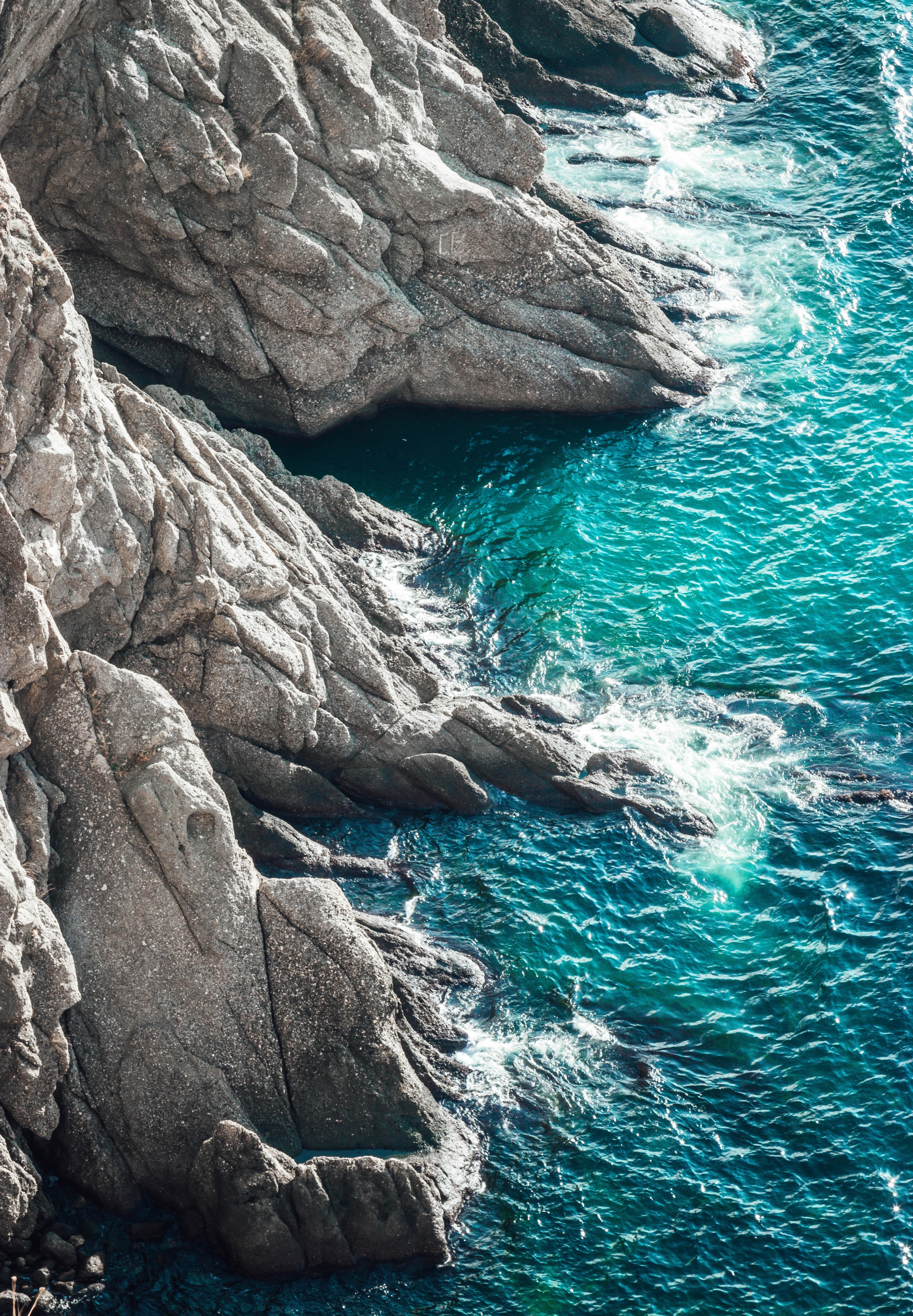 52432 Заставки и Обои Волны на телефон. Скачать Природа, Скалы, Море, Прибой, Волны картинки бесплатно