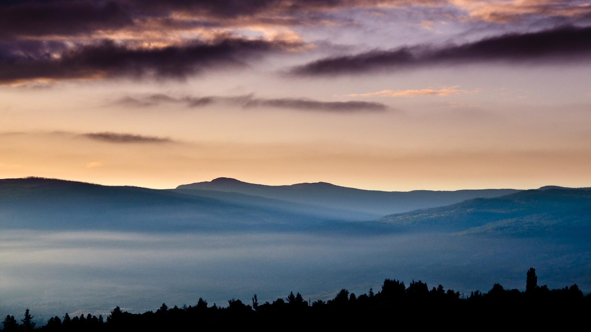 25925 скачать обои Пейзаж, Закат, Небо, Горы, Облака - заставки и картинки бесплатно