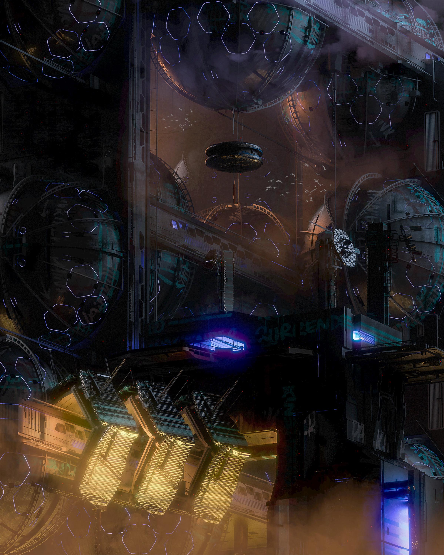 86344 Hintergrundbild 720x1280 kostenlos auf deinem Handy, lade Bilder Kunst, Gebäude, Verschiedenes, Sonstige, Futurismus, Cyberpunk, Bau, Konstruktion, Science-Fiction, Sci-Fi 720x1280 auf dein Handy herunter