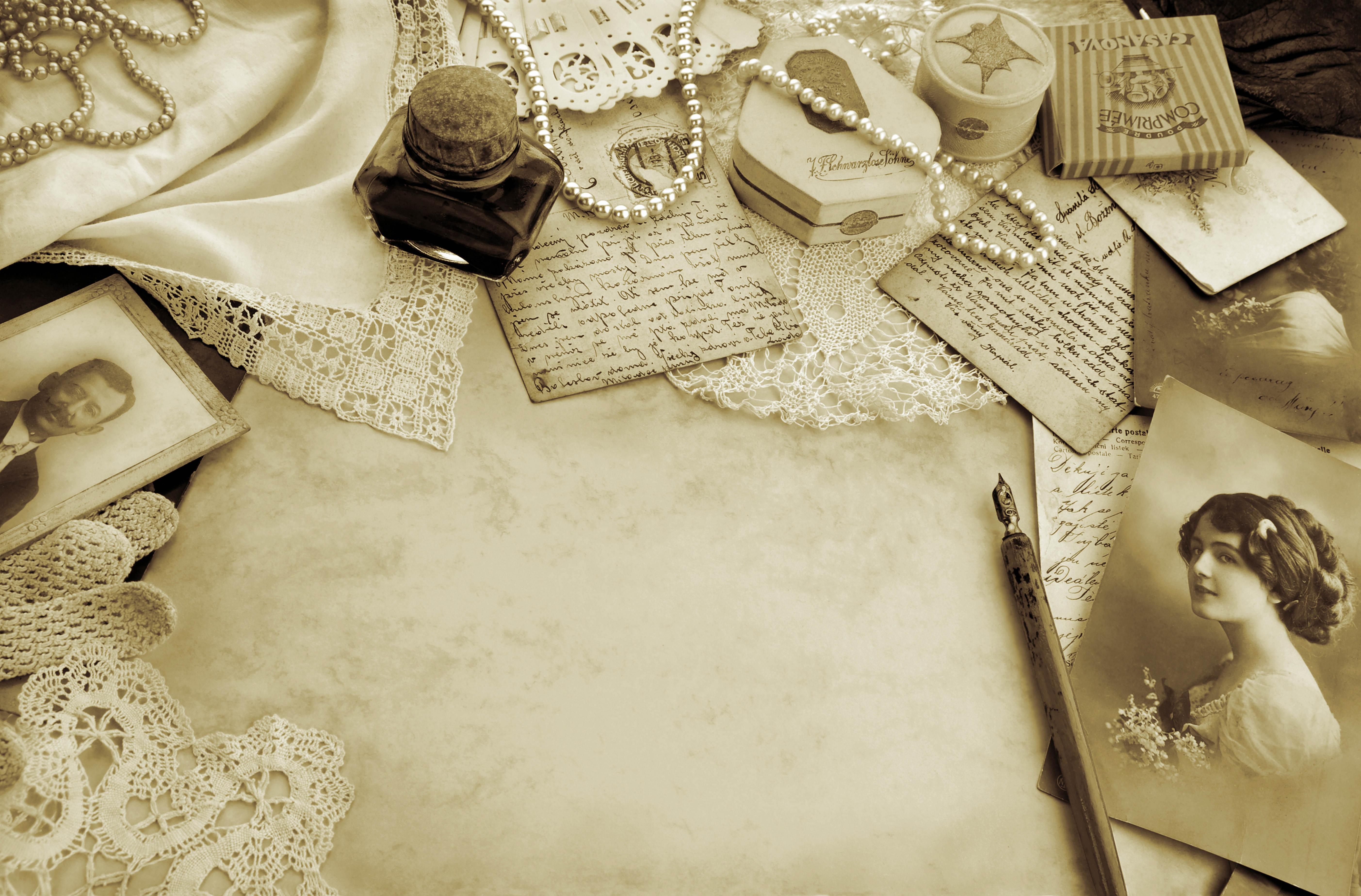 51650 baixar papel de parede Miscelânea, Variado, Mesa, Antiguidade, Vindima, Coisas, Pertences, Preto E Branco - protetores de tela e imagens gratuitamente