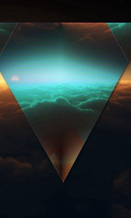74449 download wallpaper Abstract, Triangle, Form, Dark, Figurine screensavers and pictures for free