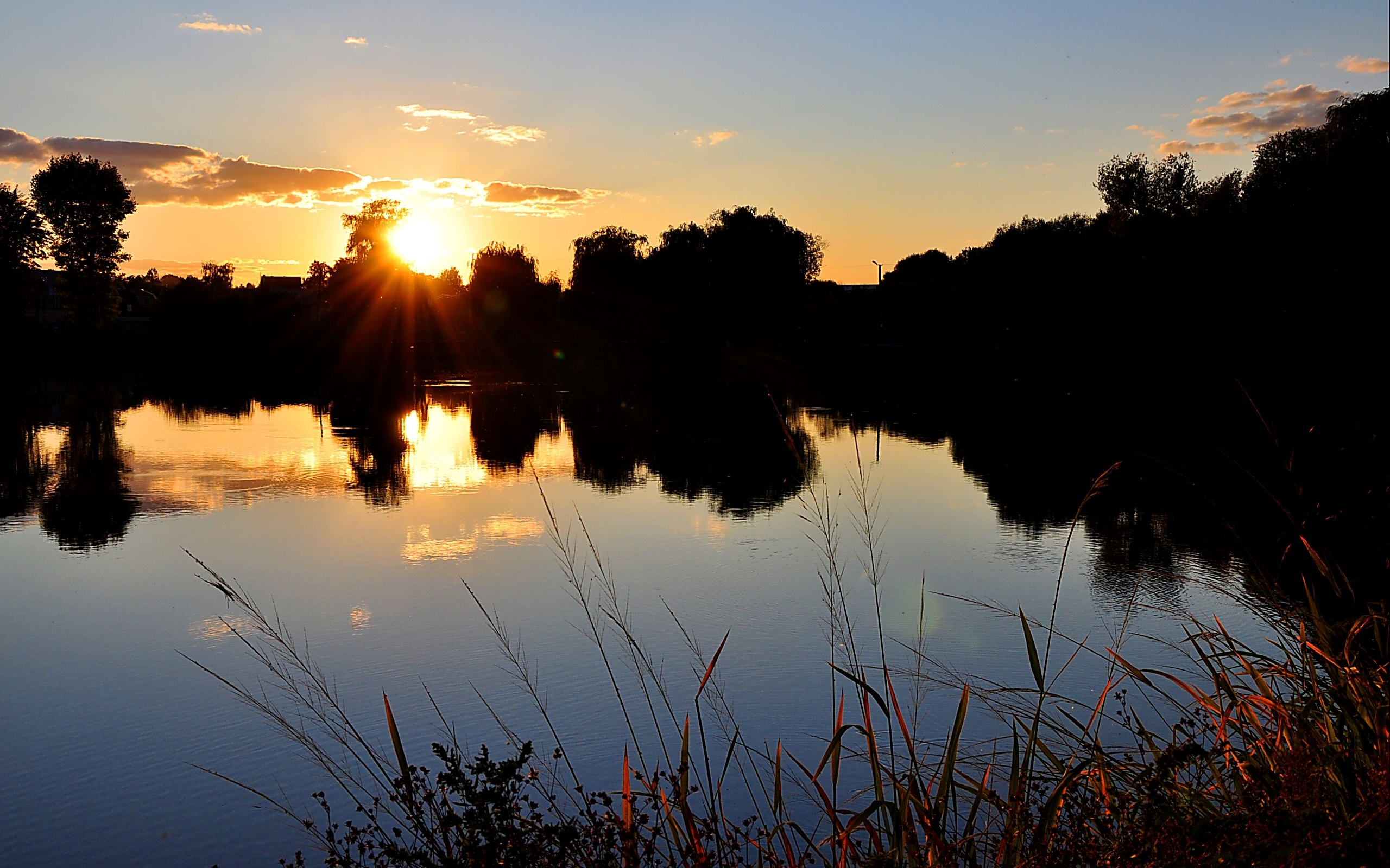 45822 download wallpaper Landscape, Nature, Sunset, Lakes screensavers and pictures for free
