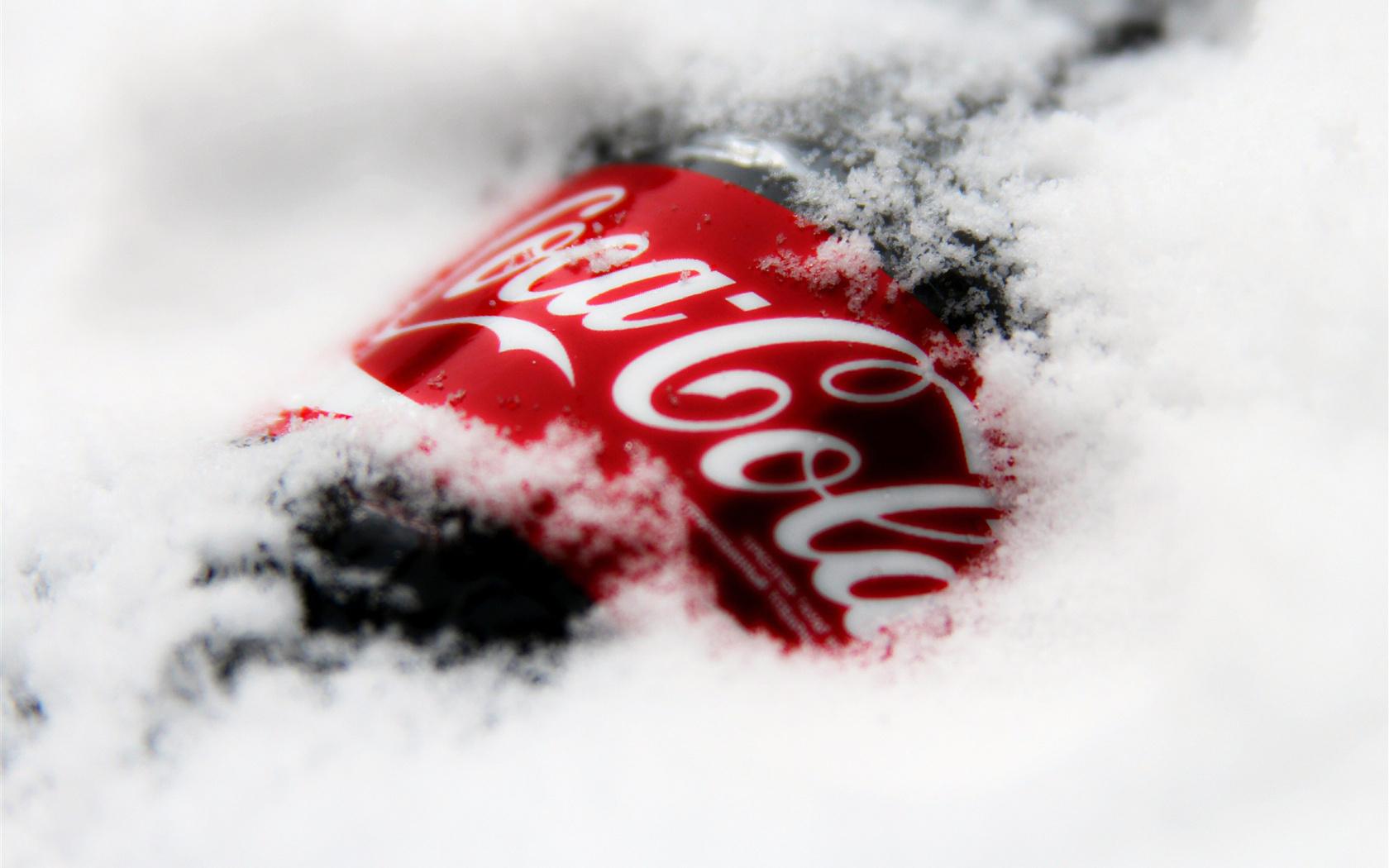 16397 Hintergrundbild herunterladen Marken, Logos, Schnee, Coca-Cola - Bildschirmschoner und Bilder kostenlos