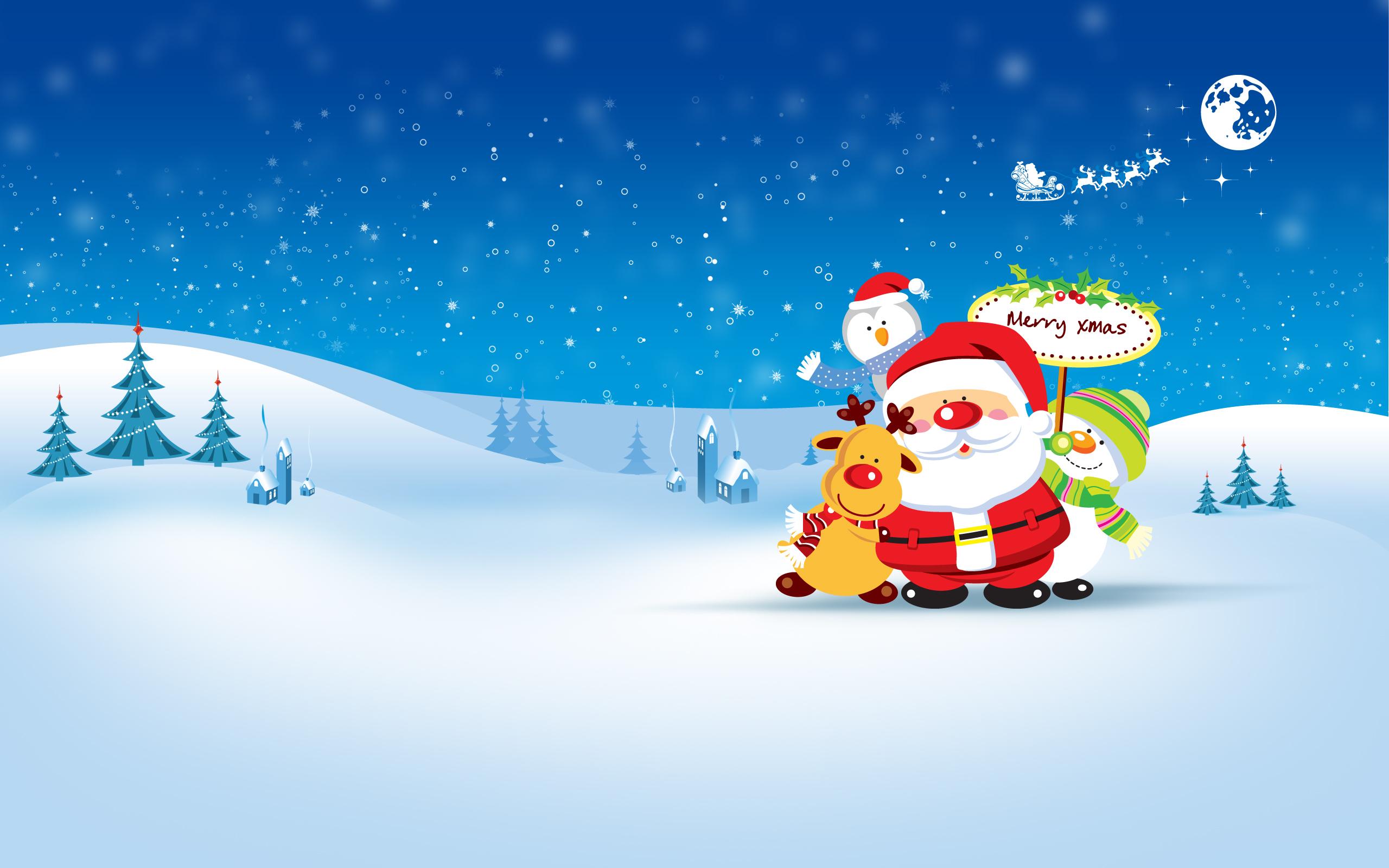 14089 скачать обои Праздники, Новый Год (New Year), Санта Клаус (Santa Claus), Рождество (Christmas, Xmas), Рисунки - заставки и картинки бесплатно