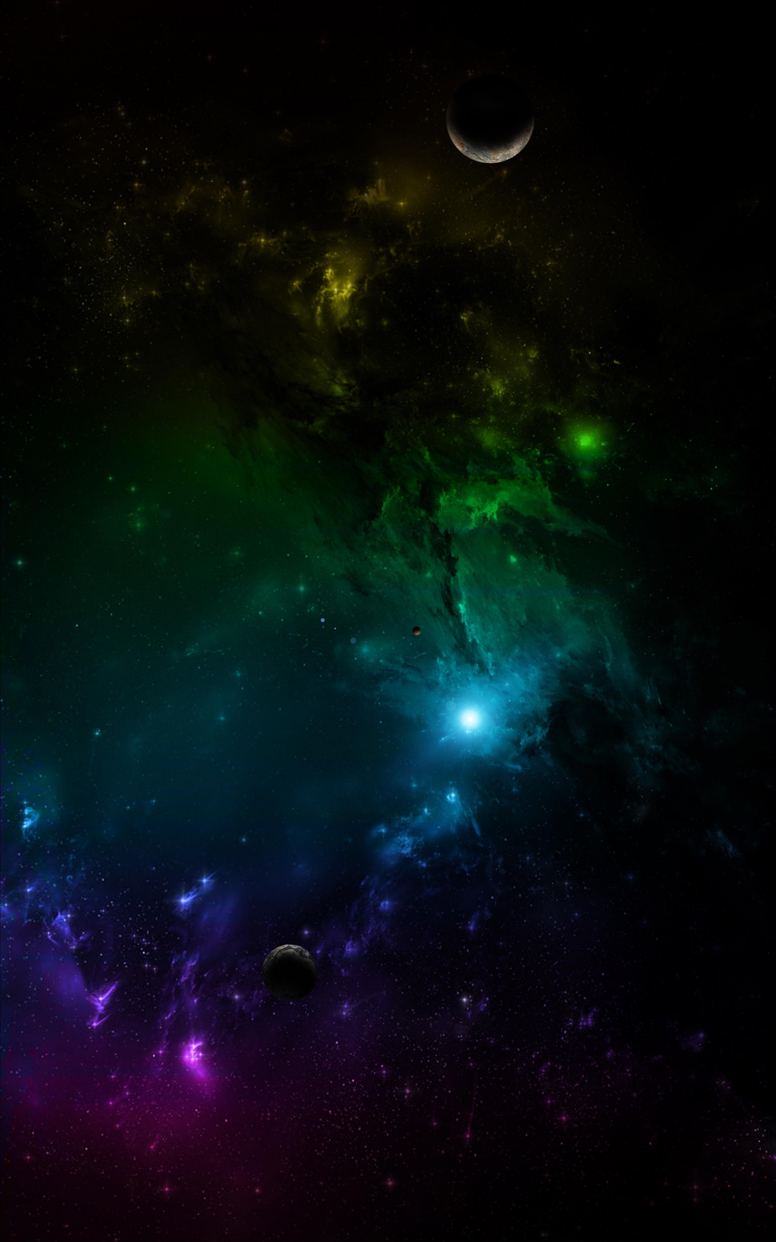 135188 Hintergrundbild herunterladen Mehrfarbig, Planets, Universum, Motley, Universe, Galaxis, Galaxy - Bildschirmschoner und Bilder kostenlos