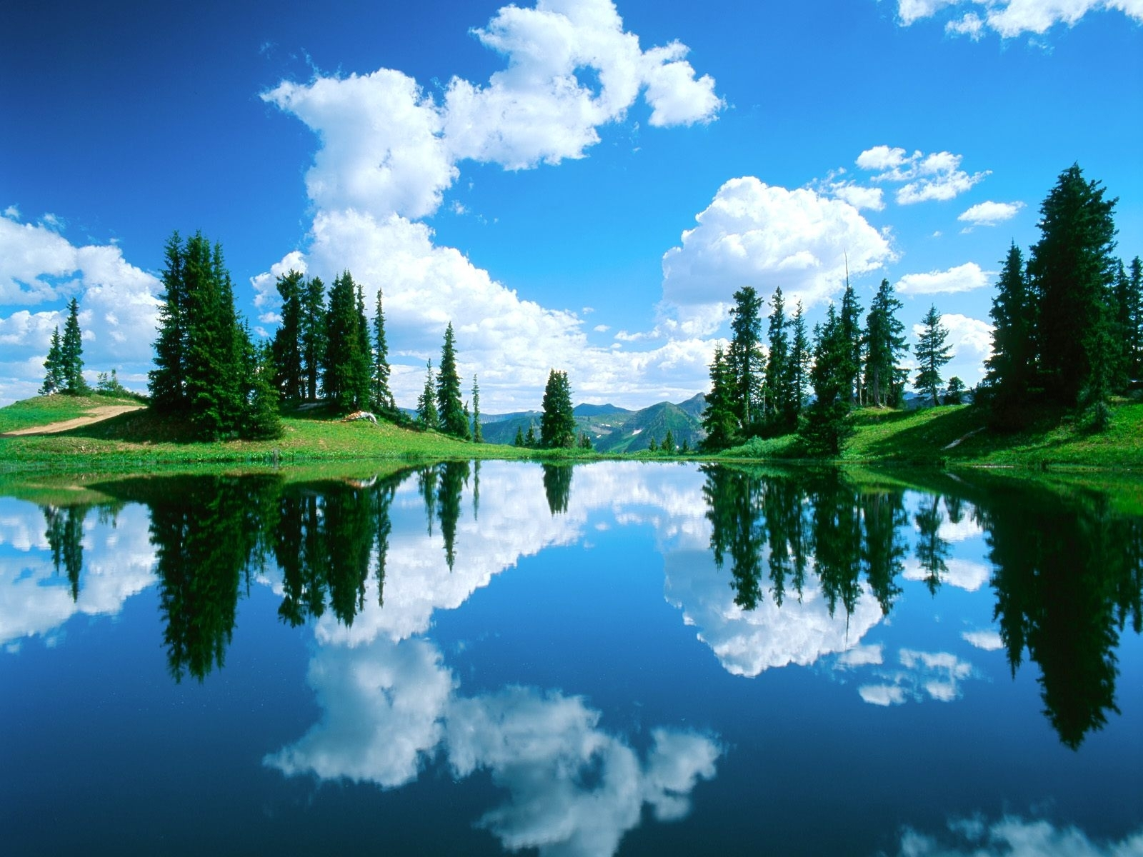 8314 скачать обои Пейзаж, Вода, Деревья, Небо, Озера - заставки и картинки бесплатно