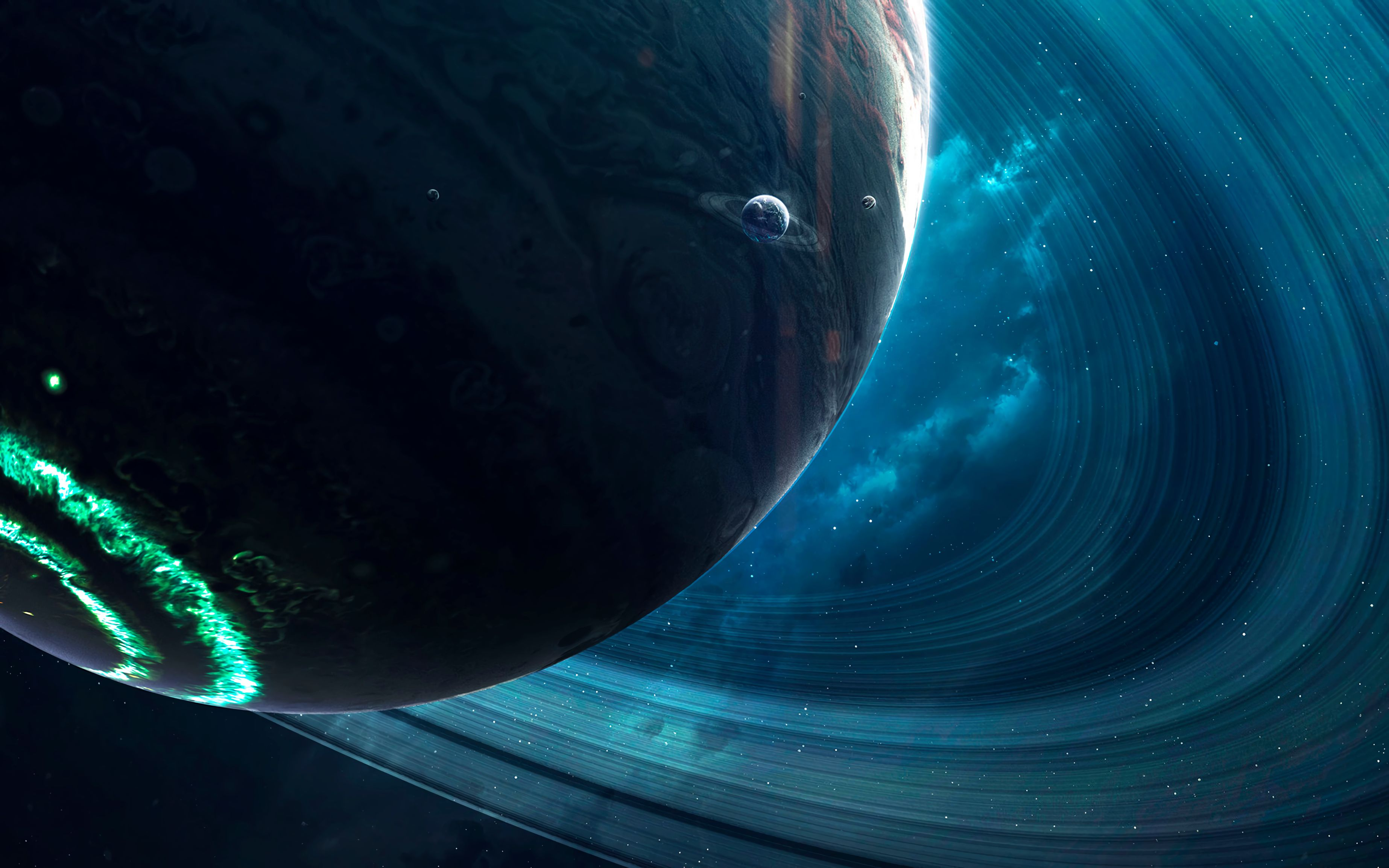 148113 free wallpaper 1080x2340 for phone, download images Planets, Universe, Rings, Space, Cosmic 1080x2340 for mobile