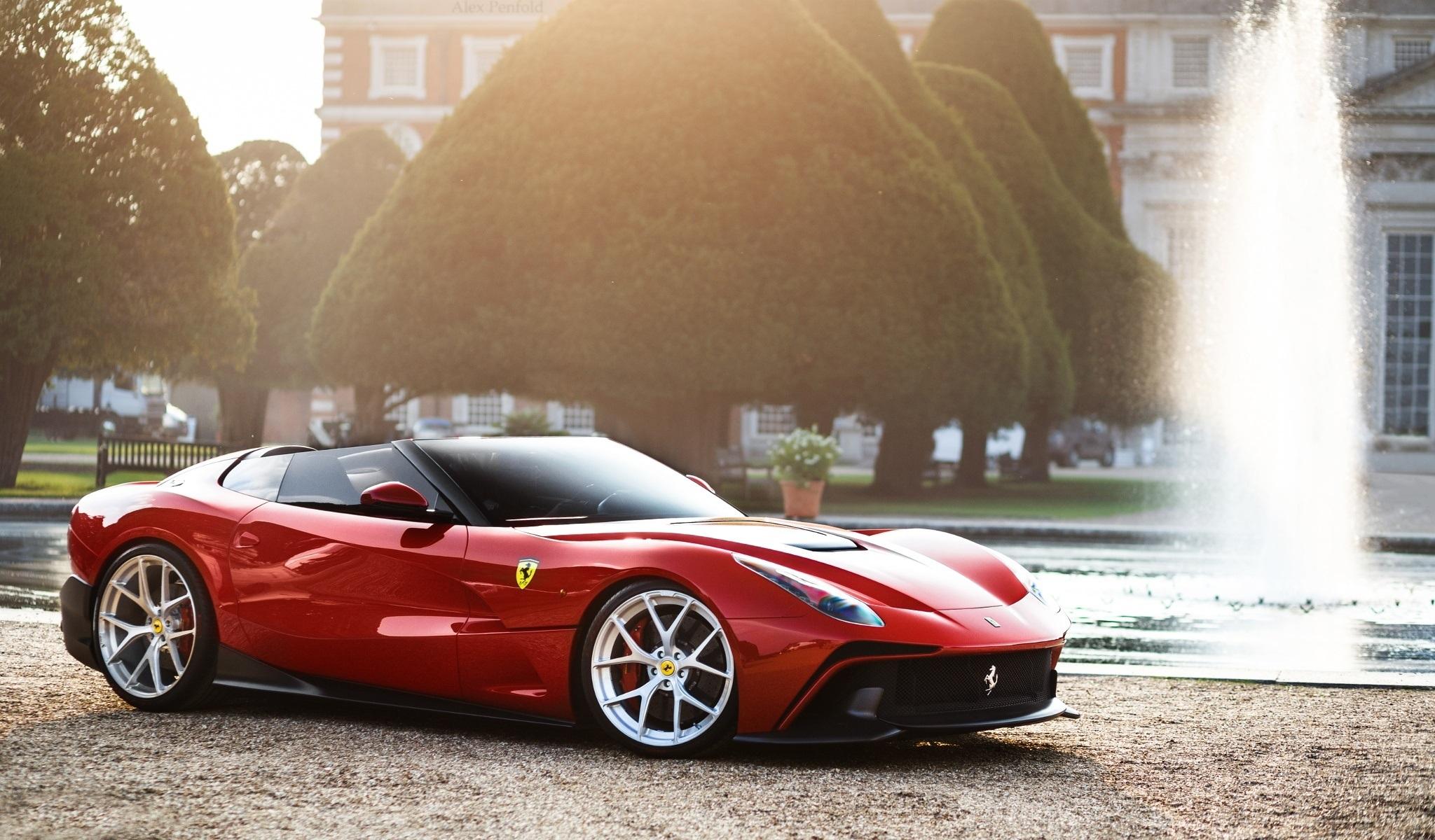 58384 скачать обои Феррари (Ferrari), Тачки (Cars), Красный, Вид Сбоку, F12, Trs - заставки и картинки бесплатно