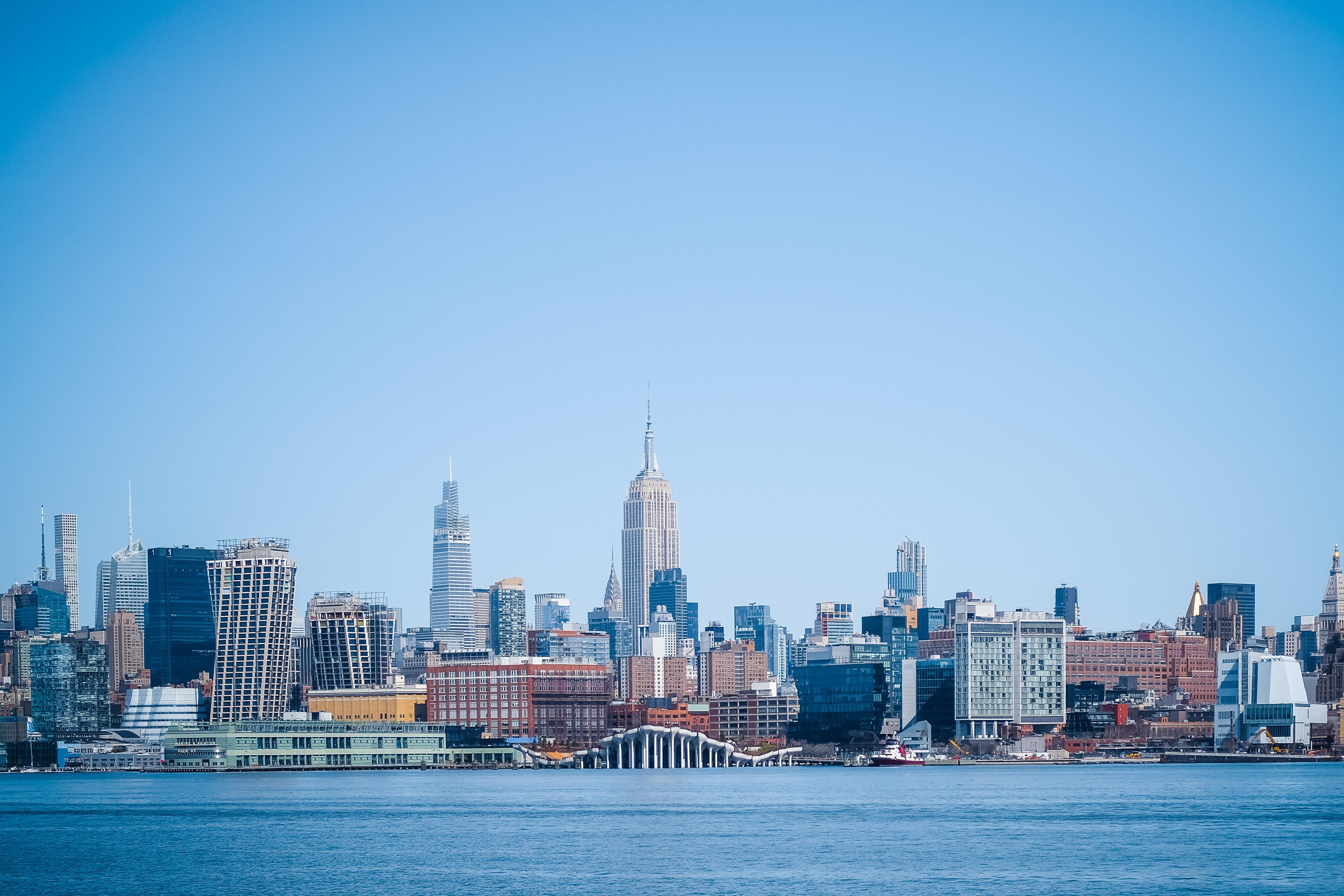 145128 fondo de pantalla 1920x1080 en tu teléfono gratis, descarga imágenes Ciudad, Edificio, Agua, Ríos, Nueva York, Arquitectura, Ciudades 1920x1080 en tu móvil