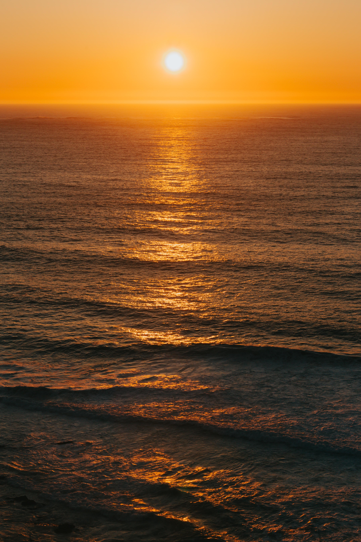 104118 fondo de pantalla 1920x1080 en tu teléfono gratis, descarga imágenes Naturaleza, Oceano, Océano, Horizonte, Puesta Del Sol, Ondas, Sol 1920x1080 en tu móvil