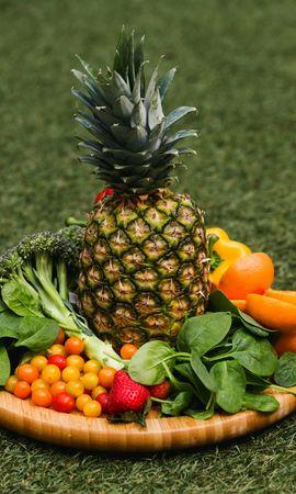 154034 télécharger le fond d'écran Nourriture, Un Ananas, Ananas, Frais, Fruits, Légumes - économiseurs d'écran et images gratuitement