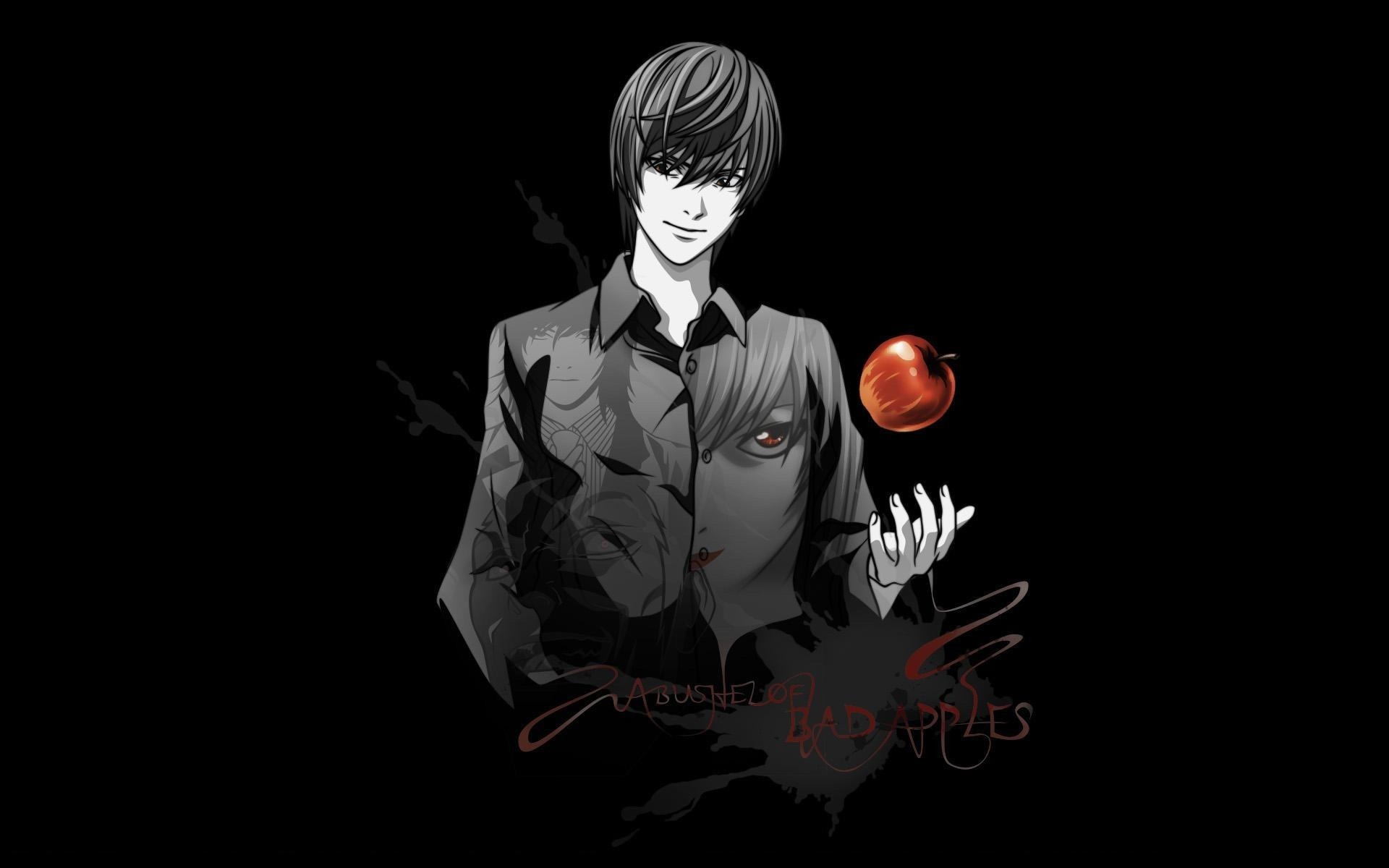 19040 download wallpaper Cartoon, Anime, Death Note screensavers and pictures for free