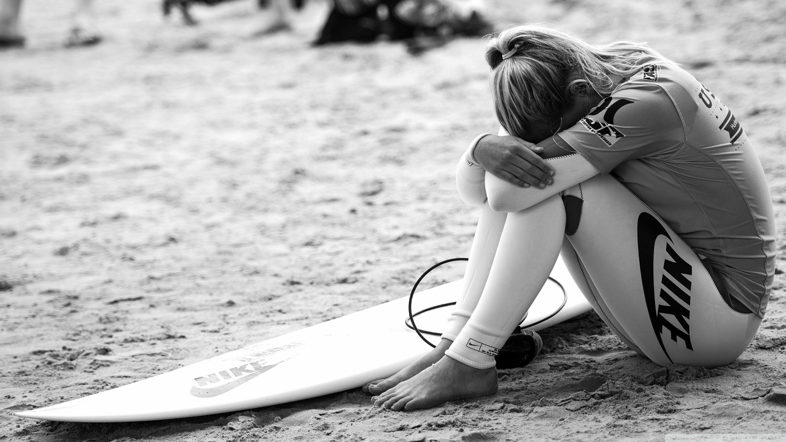 104726 Screensavers and Wallpapers Bw for phone. Download Sports, Serfing, Nike, Girl, Bw, Chb, Surfer pictures for free