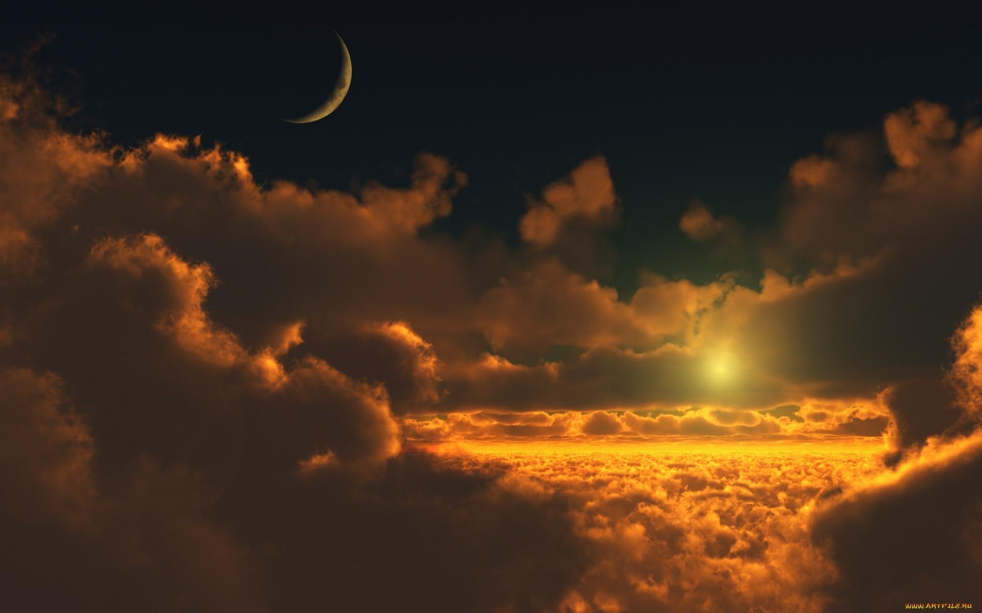 14597 скачать обои Пейзаж, Небо, Солнце, Облака - заставки и картинки бесплатно