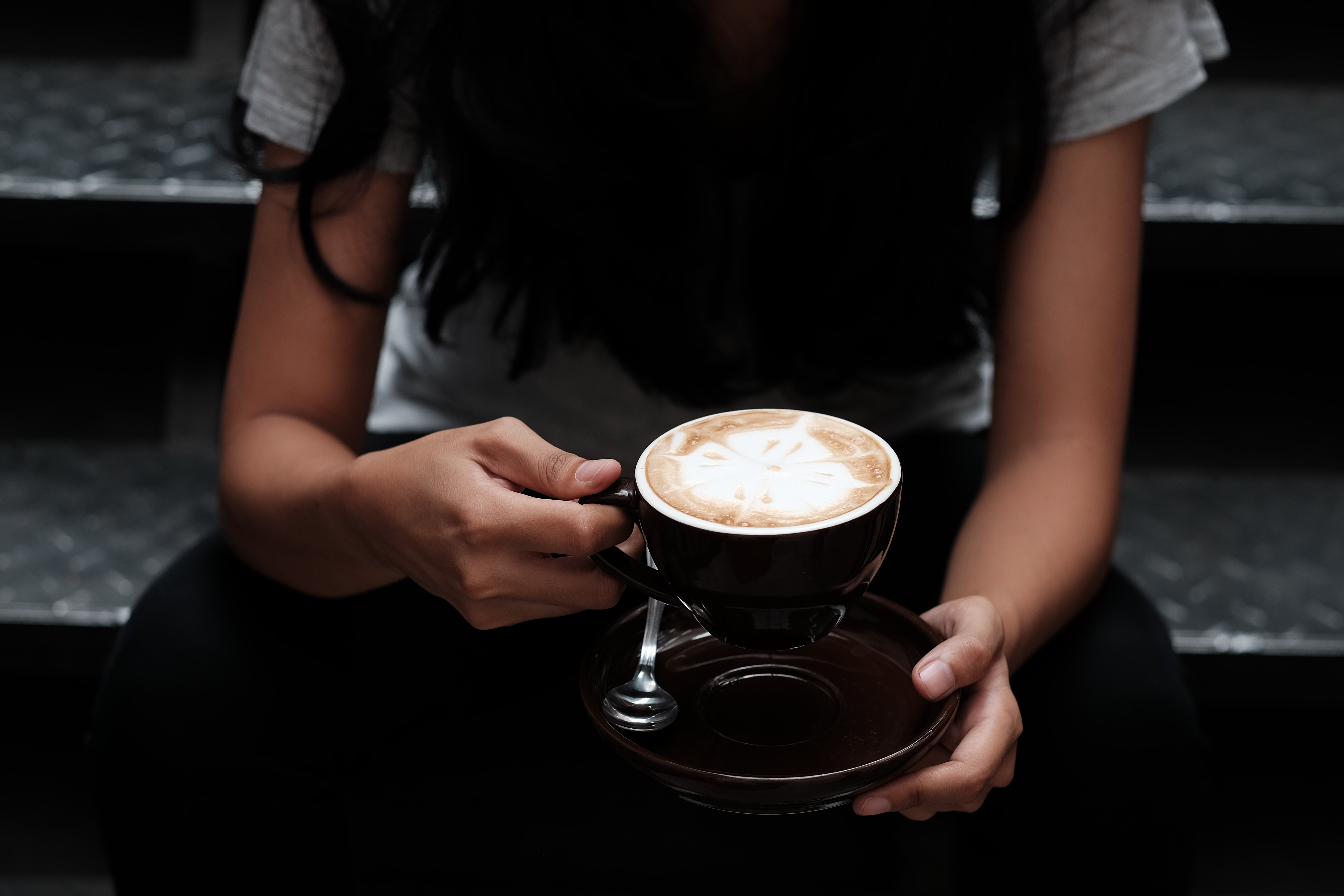 129475 download wallpaper Food, Cup, Coffee, Hands, Cappuccino screensavers and pictures for free