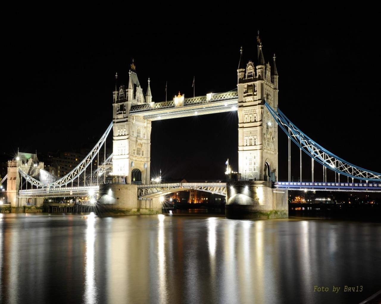 3267 скачать обои Вода, Река, Мосты, Ночь, Архитектура - заставки и картинки бесплатно