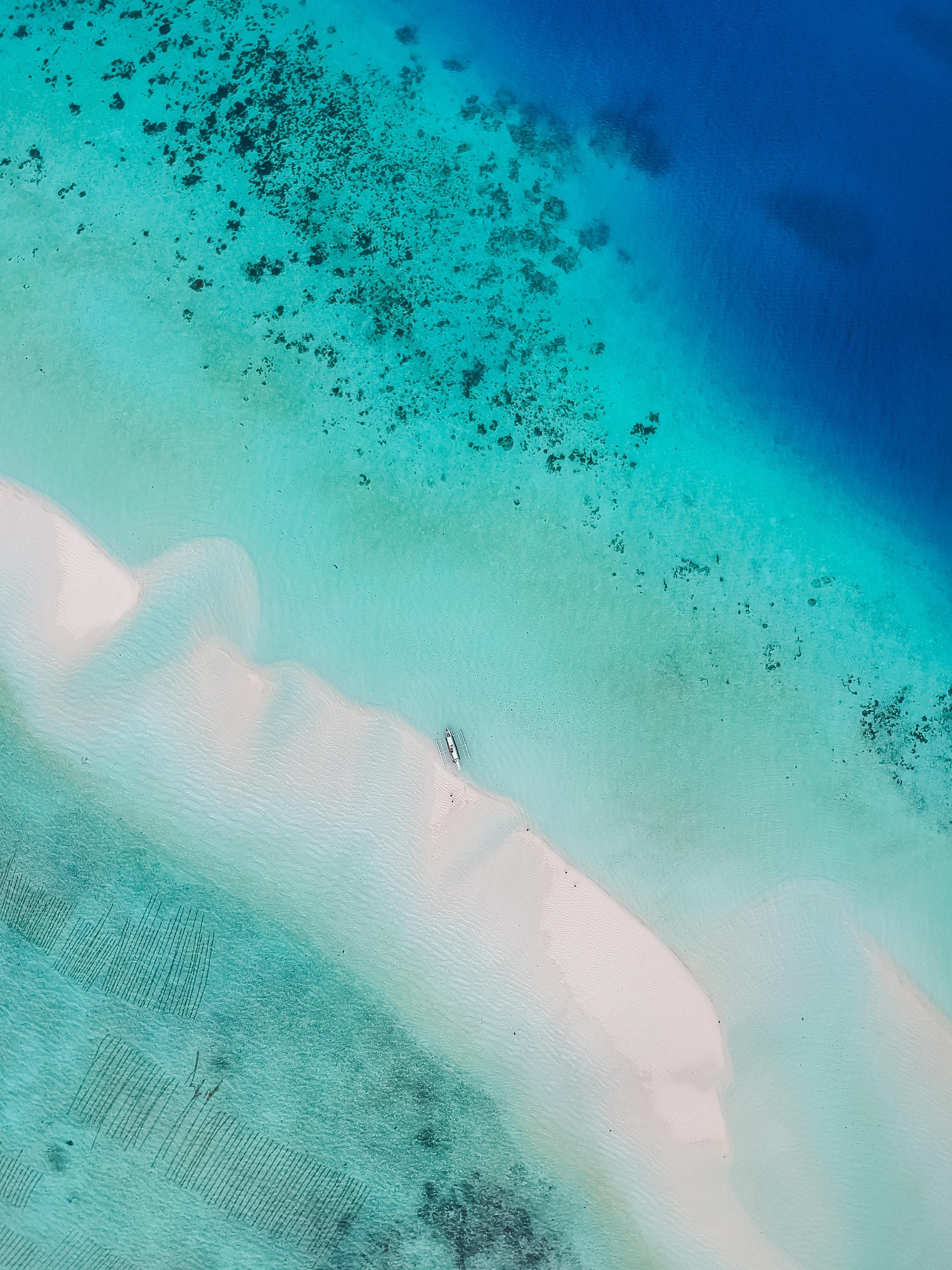 141082 Заставки и Обои Пляж на телефон. Скачать Природа, Океан, Вид Сверху, Вода, Тропики, Песок, Пляж картинки бесплатно