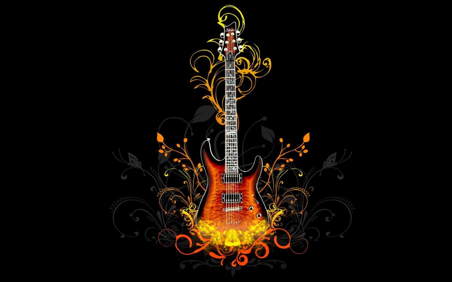 6029 скачать обои Музыка, Инструменты, Гитары, Рисунки - заставки и картинки бесплатно