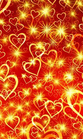 75526 télécharger le fond d'écran Amour, Un Cœur, Cœur, Art, Briller, Éclat - économiseurs d'écran et images gratuitement