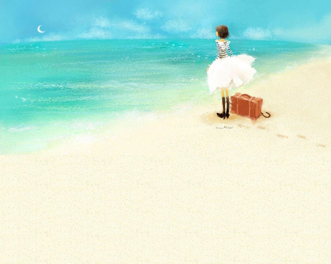 41775 скачать обои Пейзаж, Море, Рисунки - заставки и картинки бесплатно