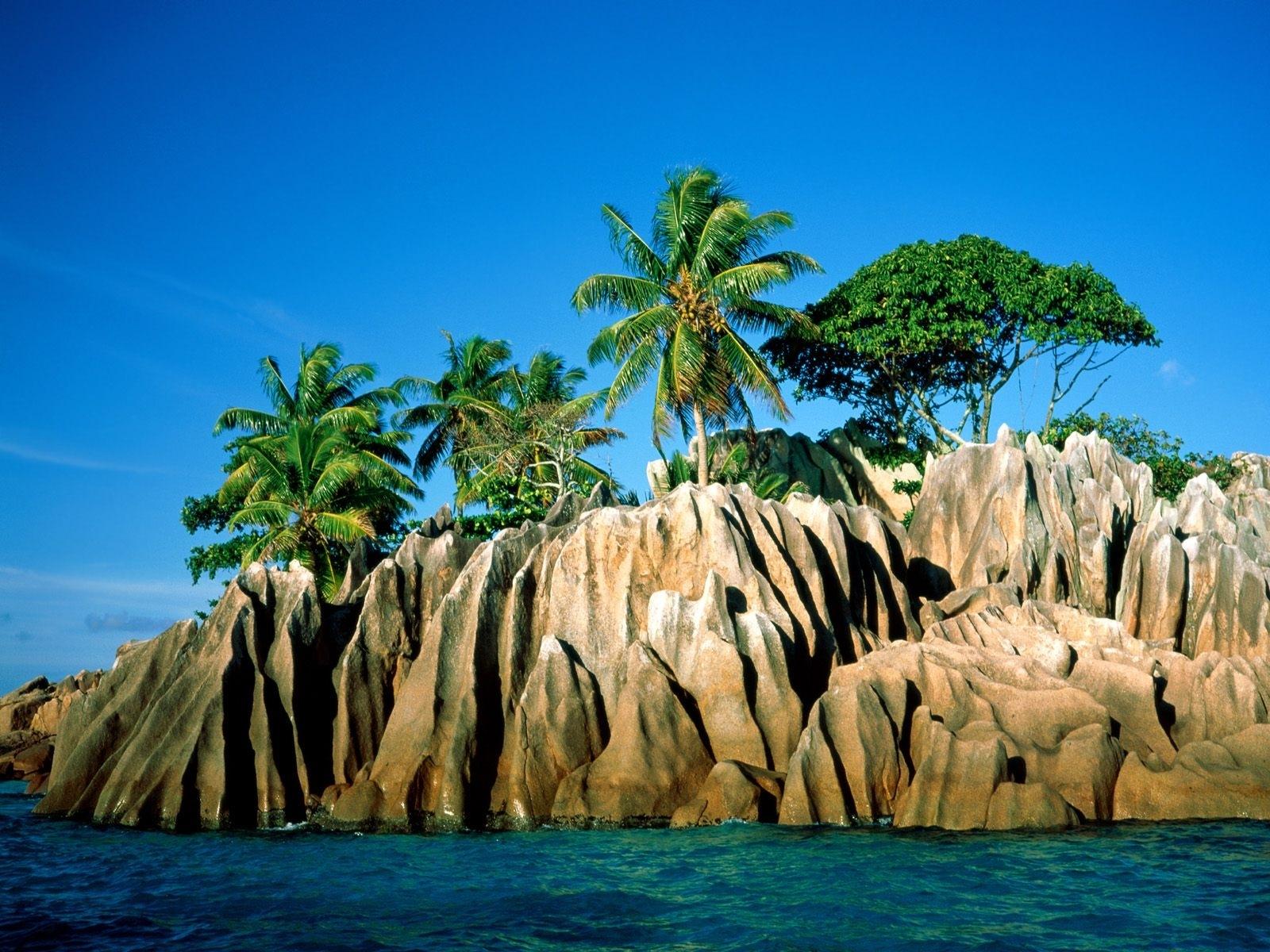 3945 скачать обои Пейзаж, Деревья, Горы, Море, Пальмы - заставки и картинки бесплатно