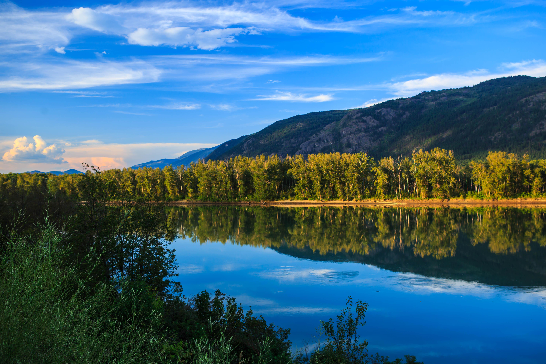 141396 скачать обои Озеро, Отражение, Деревья, Природа, Горы, Пейзаж - заставки и картинки бесплатно