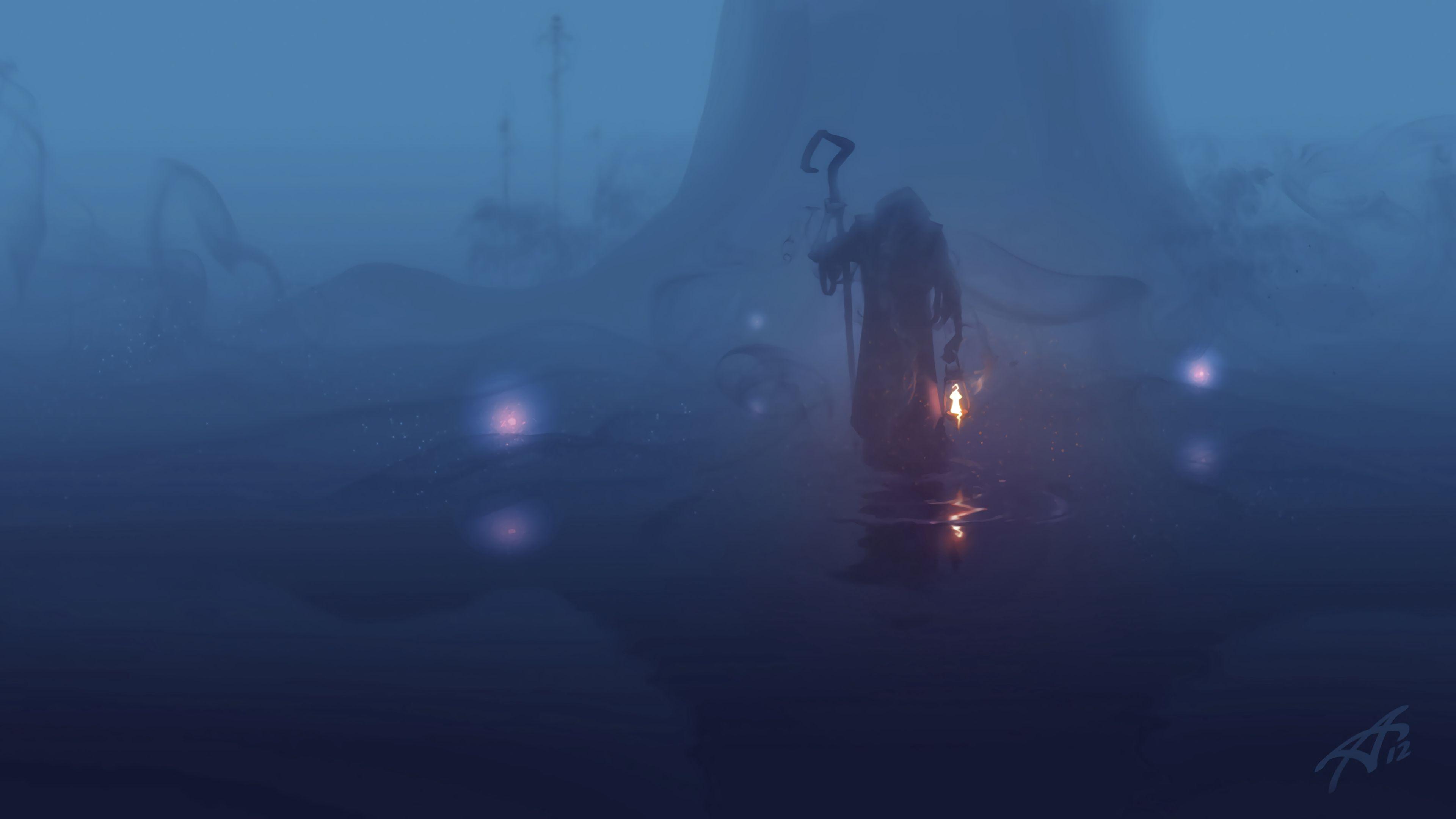 免費壁紙93304:艺术, 流浪者, 特尼特尼克, 多雾路段, 雾, 地幔, 地名, 黑暗的, 黑暗, 阴沉, 阴郁, 灯, 灯泡 下載手機圖片