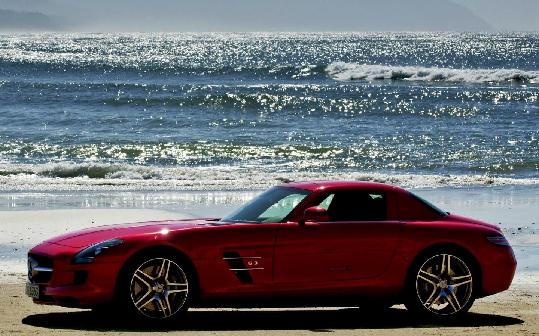 24172 скачать обои Транспорт, Машины, Море, Мерседес (Mercedes), Волны - заставки и картинки бесплатно