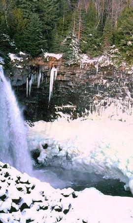 8060 скачать обои Пейзаж, Зима, Природа, Водопады, Снег - заставки и картинки бесплатно