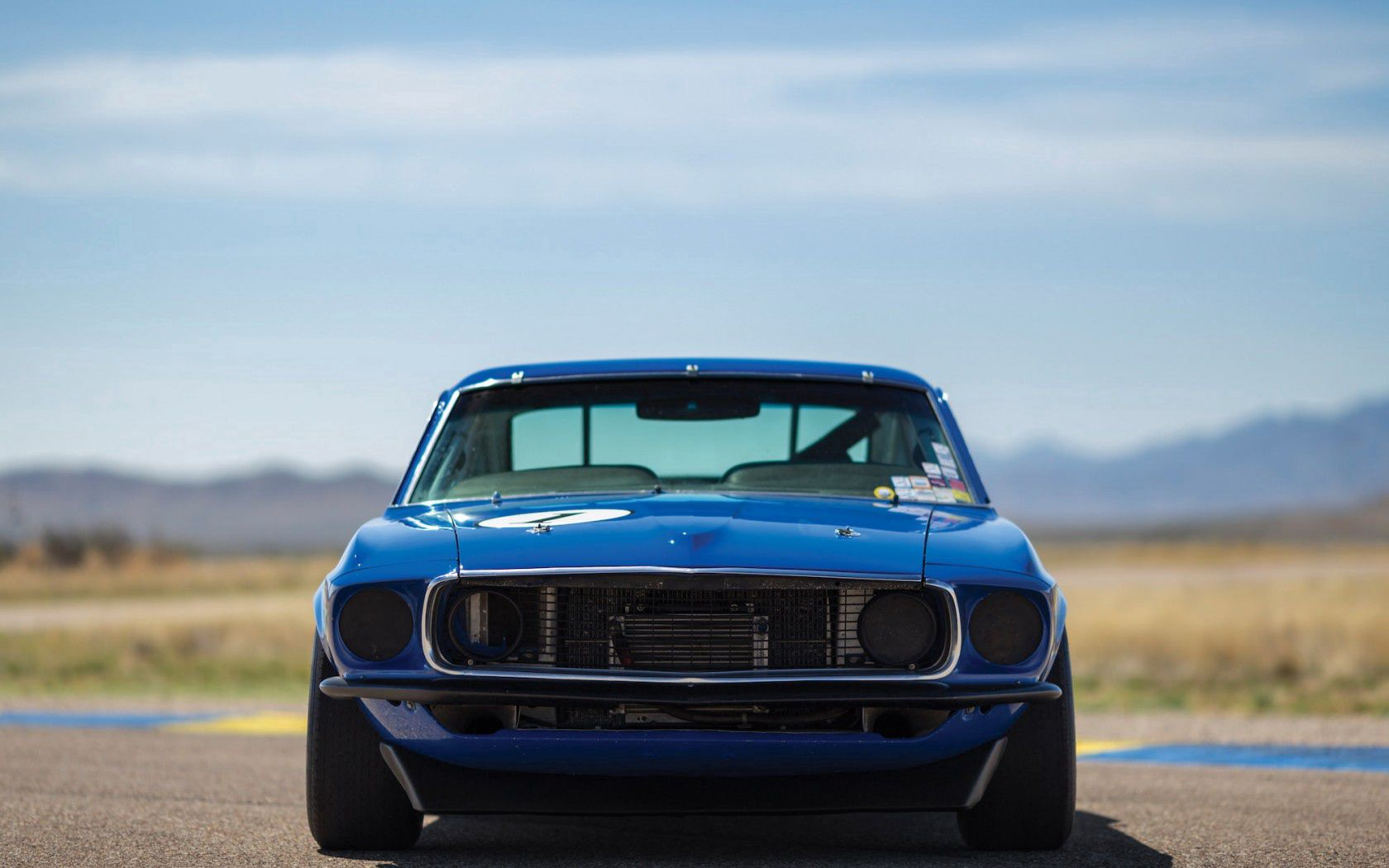 63319 free wallpaper 1125x2436 for phone, download images Auto, Cars, Front View, Ford Mustang, 1969 1125x2436 for mobile