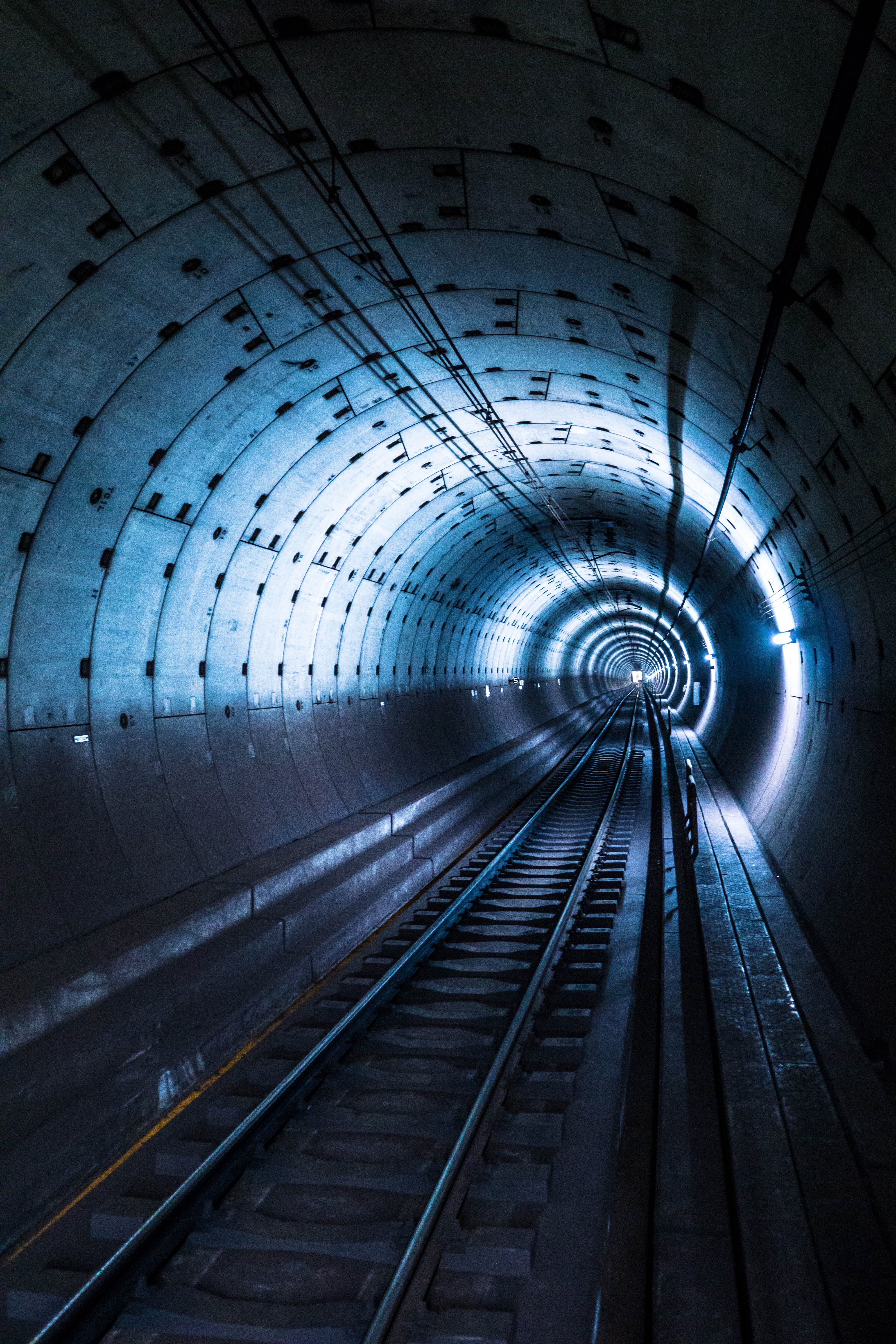 72345 Screensavers and Wallpapers Metro for phone. Download Miscellanea, Miscellaneous, Backlight, Illumination, Tunnel, Underground, Rails, Metro, Subway pictures for free