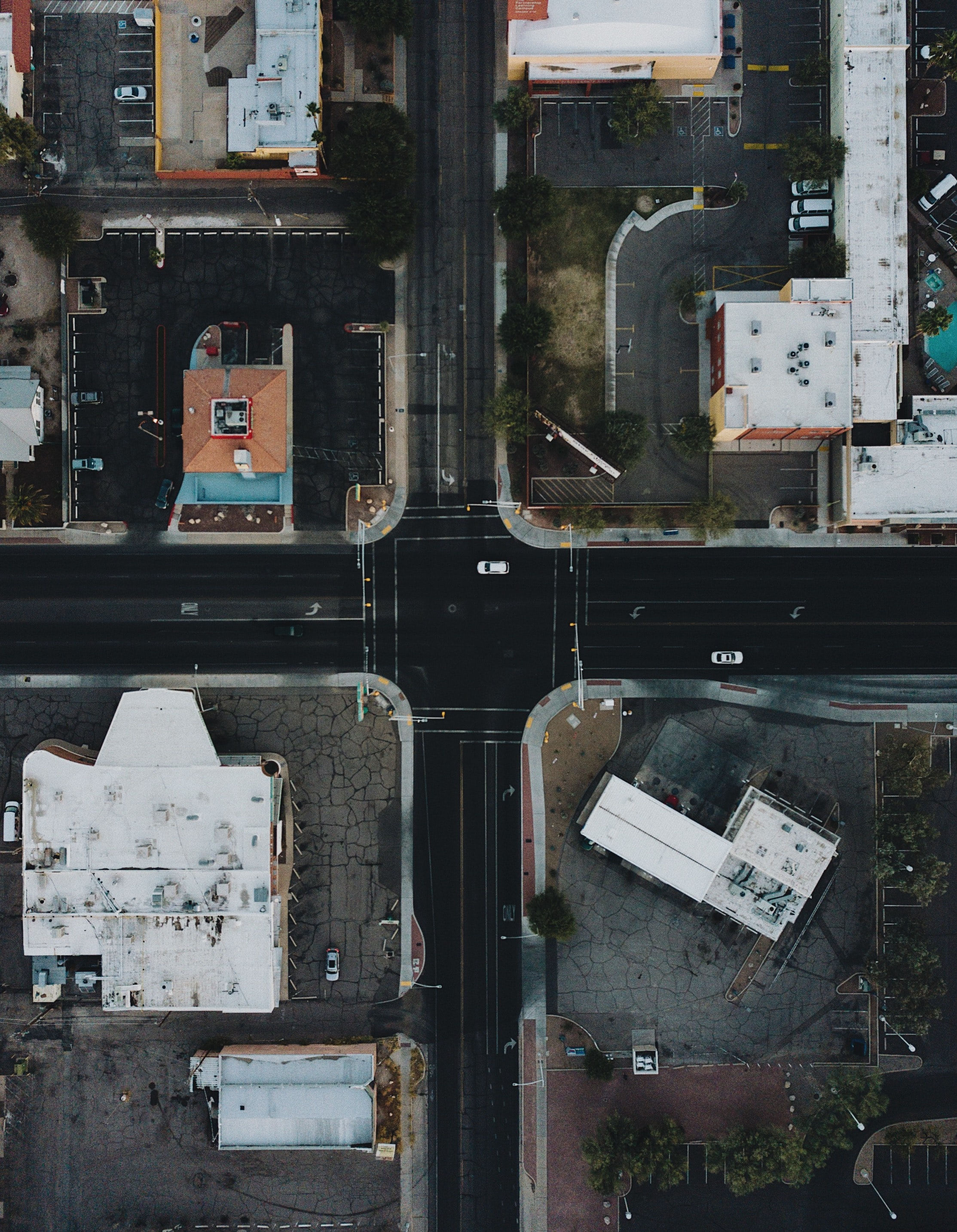 57665 download wallpaper View From Above, Houses, Cities, Auto, Streets screensavers and pictures for free