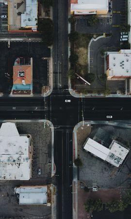 57665 скачать обои Вид Сверху, Дома, Города, Машины, Улицы - заставки и картинки бесплатно