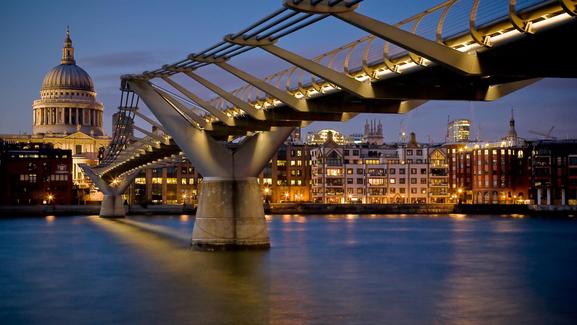 6917 скачать обои Пейзаж, Города, Река, Мосты, Архитектура - заставки и картинки бесплатно