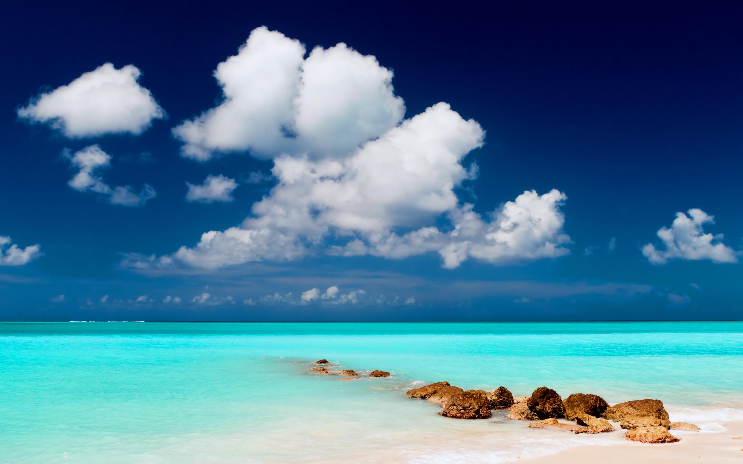 19101 скачать обои Пейзаж, Небо, Море, Облака, Пляж - заставки и картинки бесплатно
