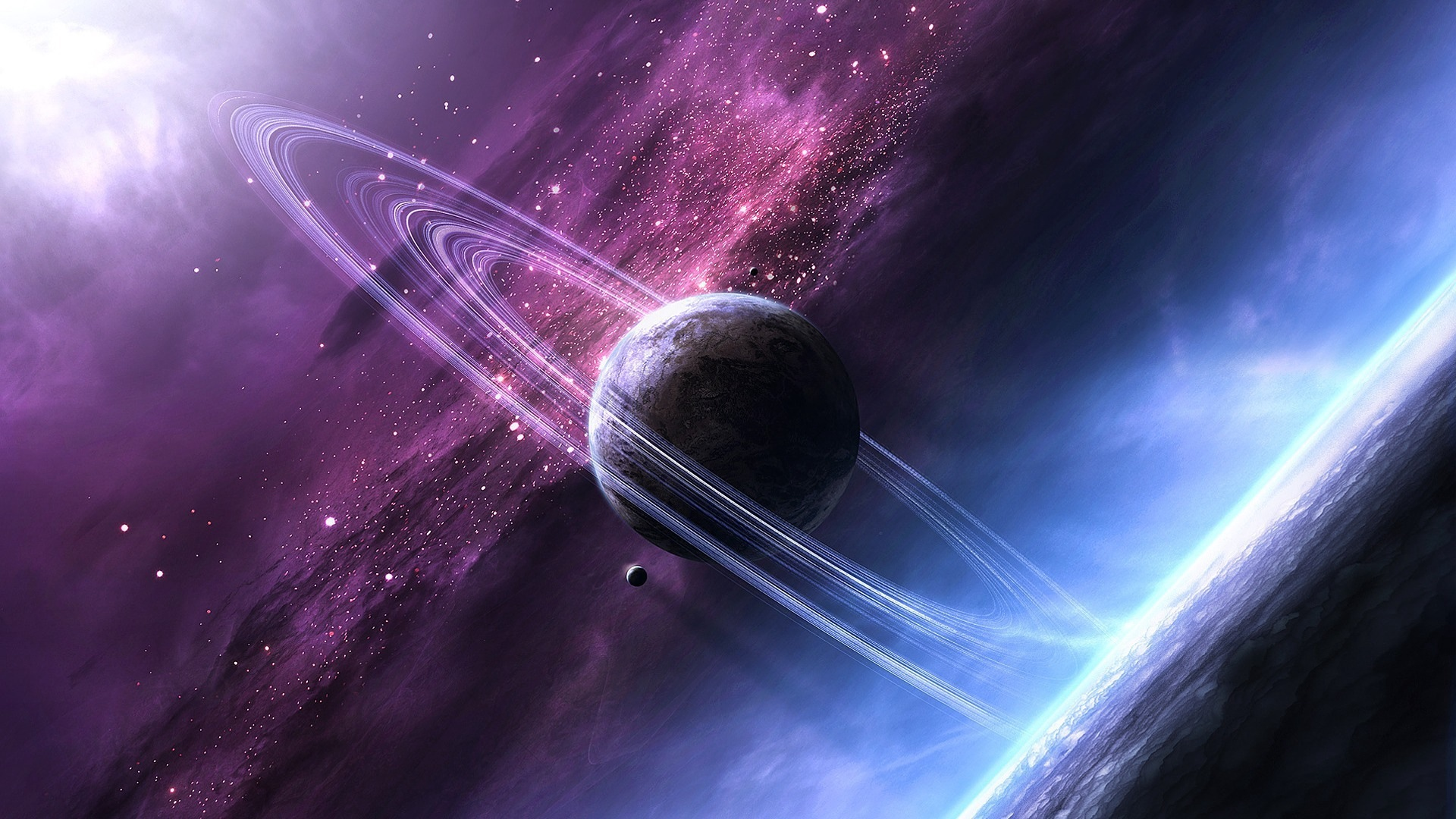 73854 download wallpaper Universe, Stars, Planet, Shining screensavers and pictures for free