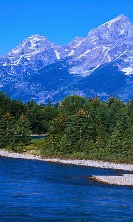 31440 скачать обои Пейзаж, Река, Горы - заставки и картинки бесплатно
