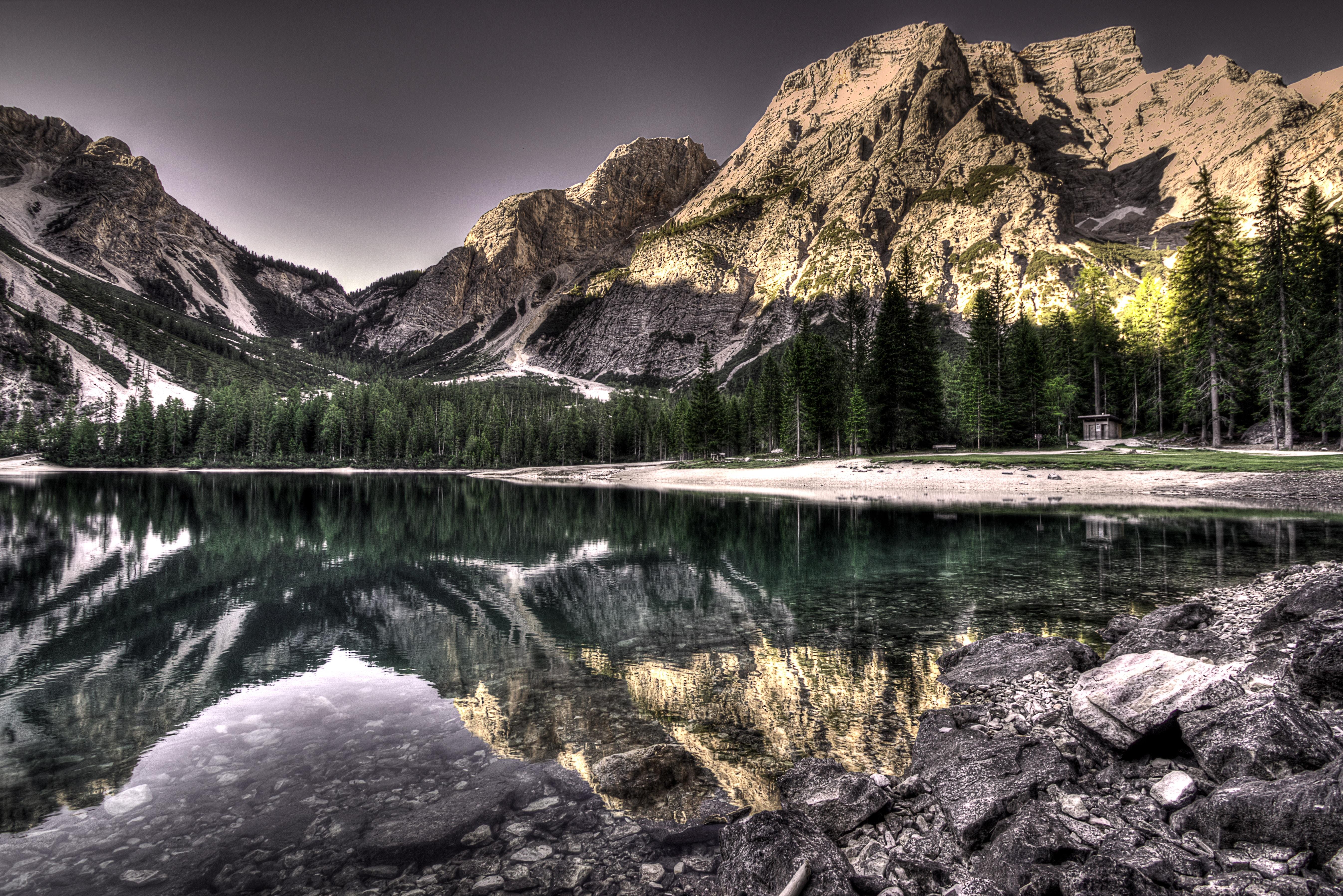 65317 fond d'écran 720x1520 sur votre téléphone gratuitement, téléchargez des images Nature, Montagnes, Lac, Réflexion, Hdr 720x1520 sur votre mobile