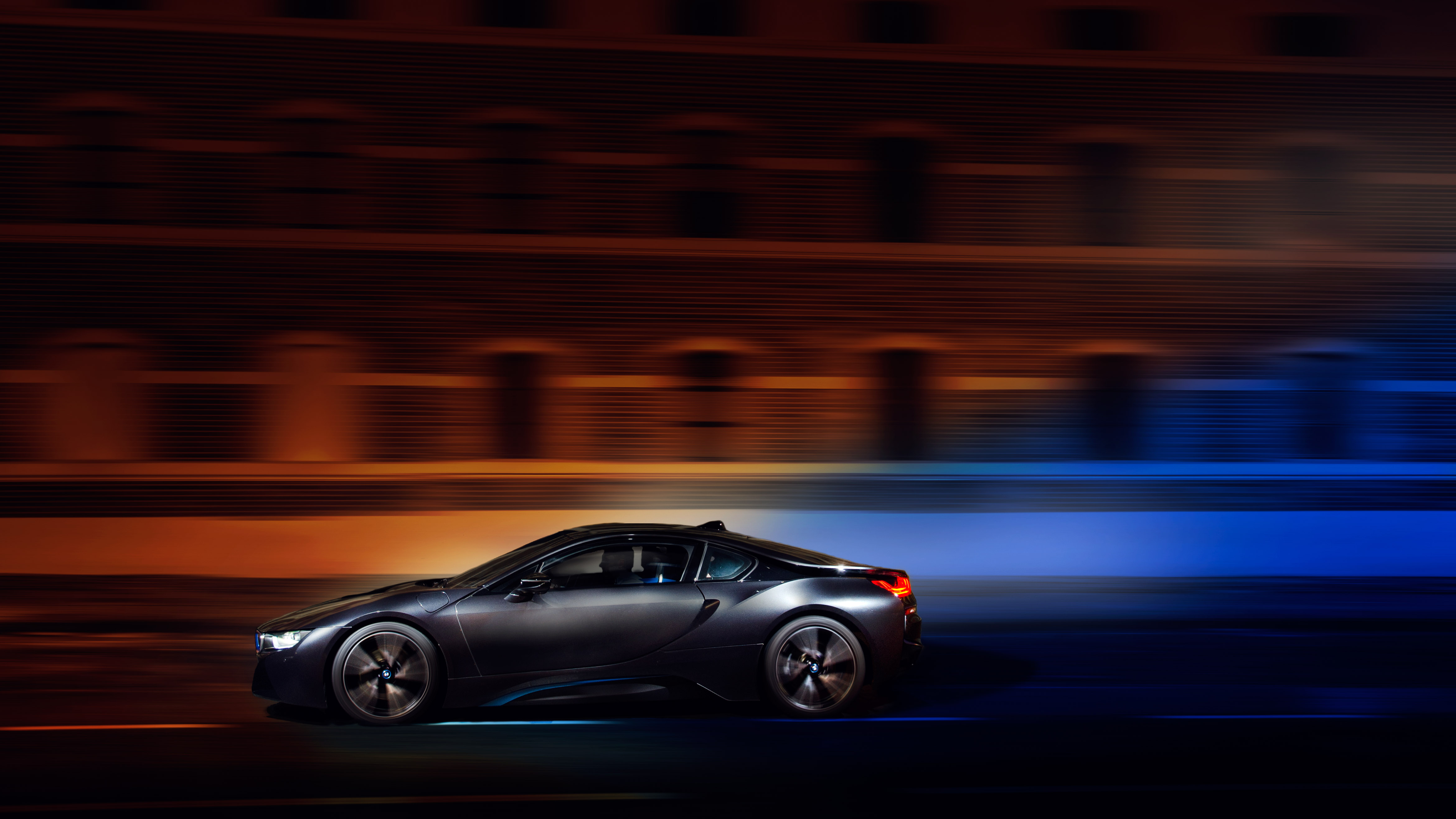 85887 download wallpaper Bmw, Night, Cars, Traffic, Movement, Speed, Bmw I8 screensavers and pictures for free