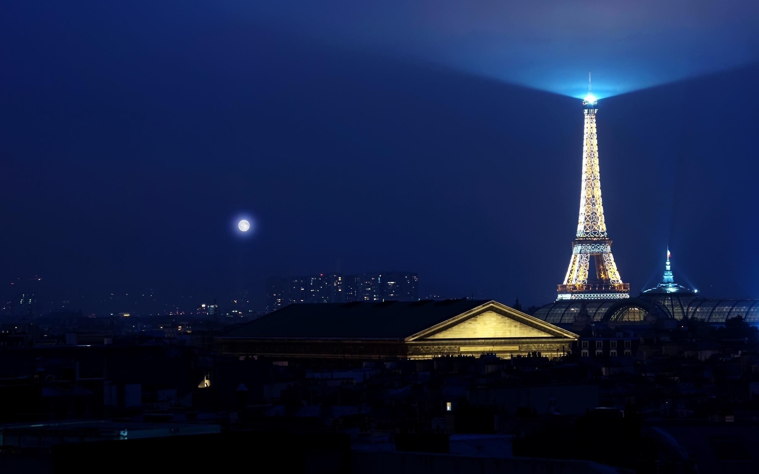 23475 скачать обои Пейзаж, Ночь, Архитектура, Париж, Эйфелева Башня - заставки и картинки бесплатно