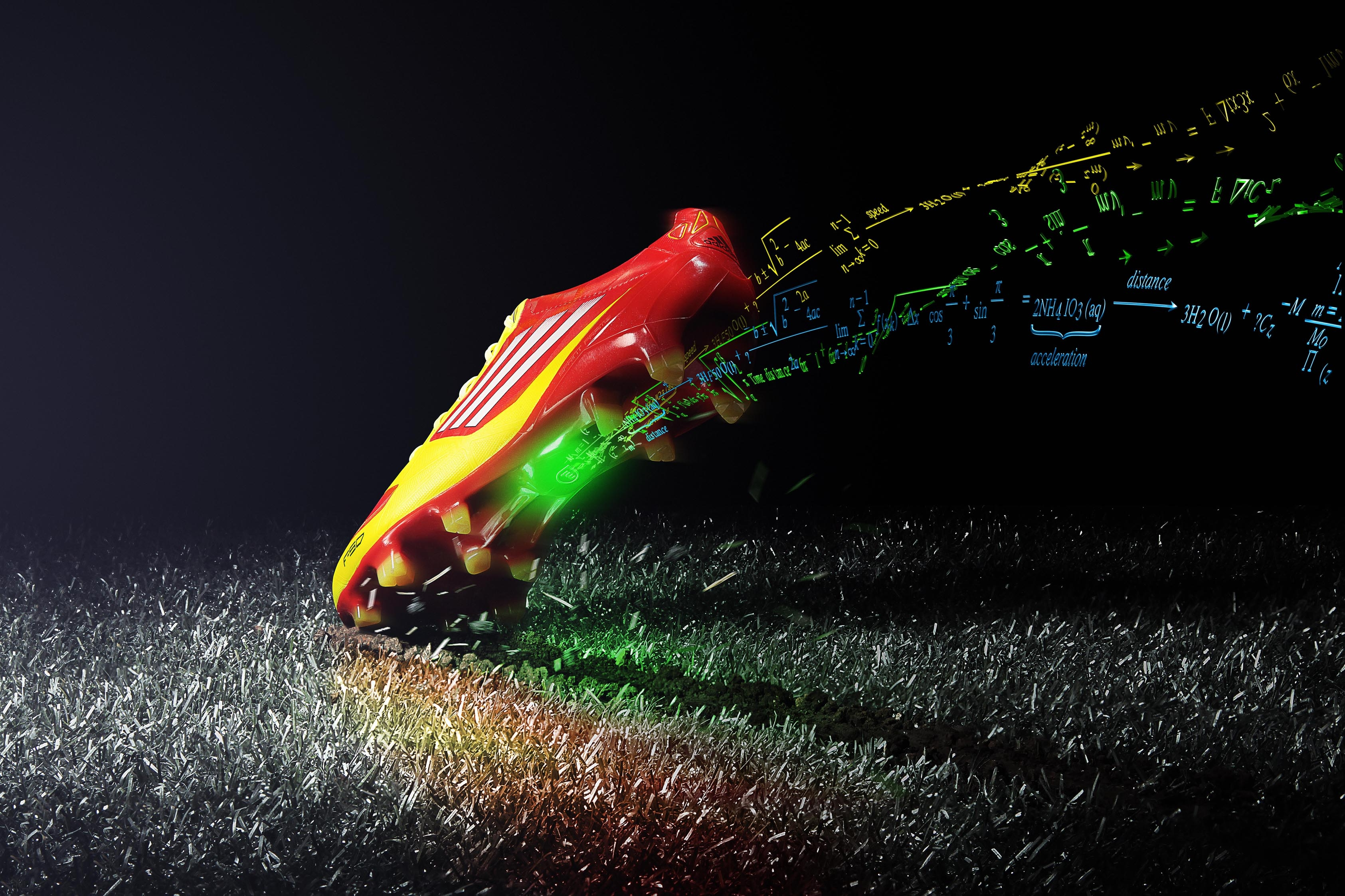 112308 download wallpaper Cleats, Shoes, Footwear, Sports, Calculations, Formula, Black Background, Football screensavers and pictures for free