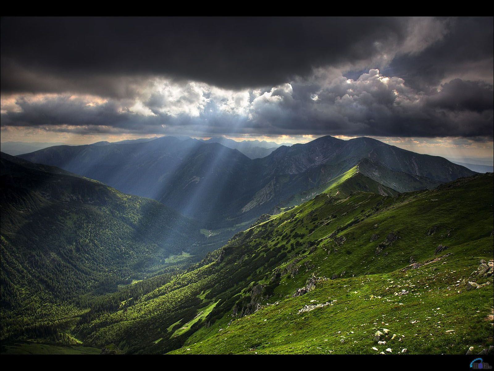 20434 download wallpaper Landscape, Mountains, Sun, Clouds screensavers and pictures for free