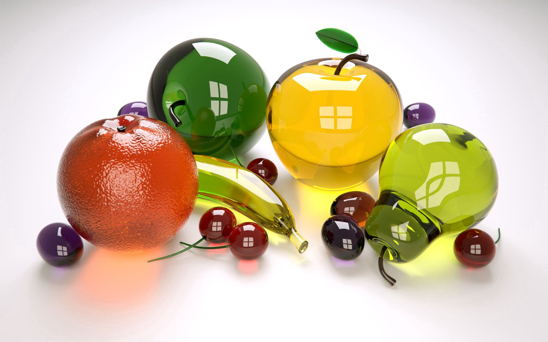 93194 Screensavers and Wallpapers Fruits for phone. Download 3D, Glass, Multicolored, Motley, Collection, Fruits pictures for free